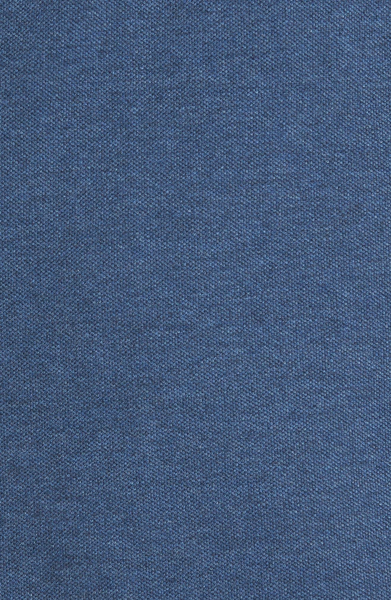 Clifton Quarter Zip Pullover,                             Alternate thumbnail 5, color,                             Denim