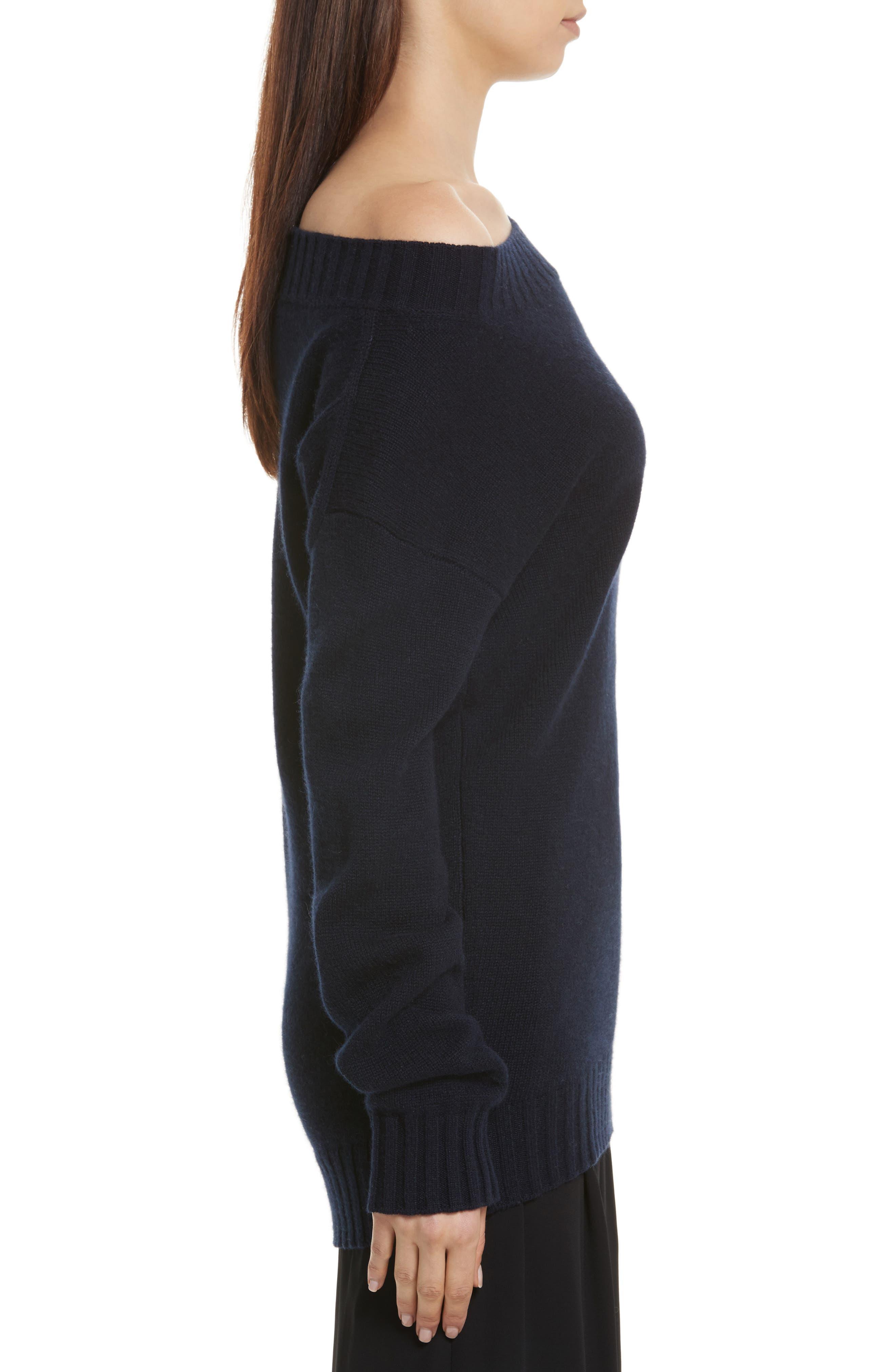 Alternate Image 3  - Vince Off the Shoulder Wool & Cashmere Sweater