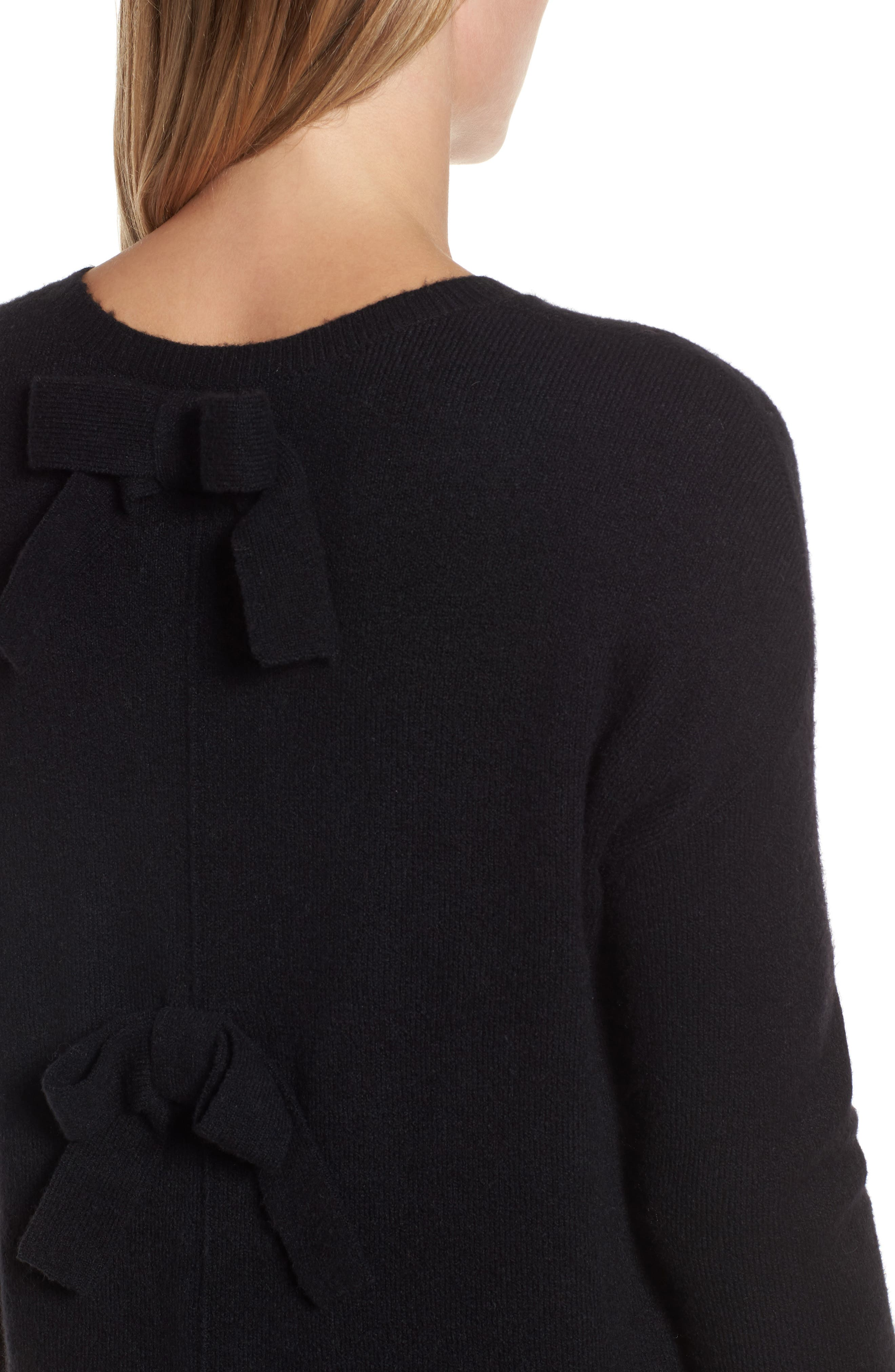 Alternate Image 4  - Halogen® Bow Back Sweater (Regular & Petite)