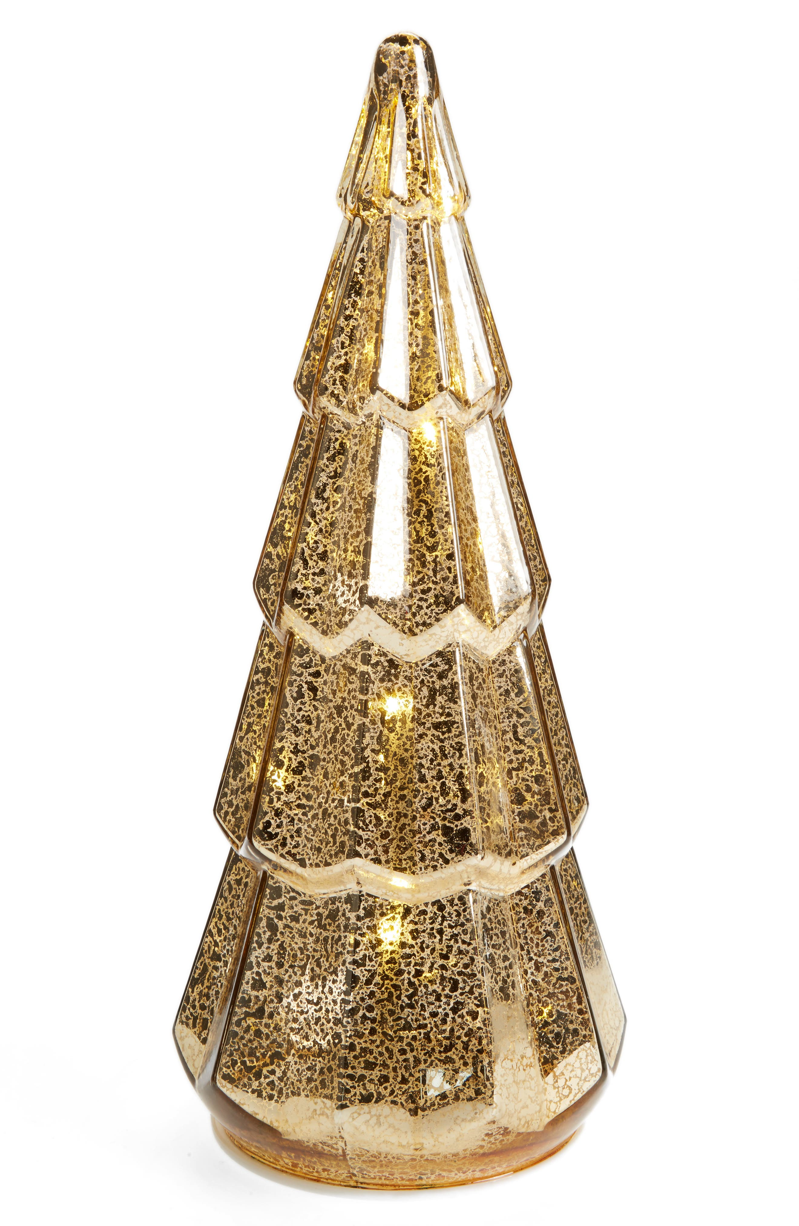 LED Glass Tree,                         Main,                         color, Gold