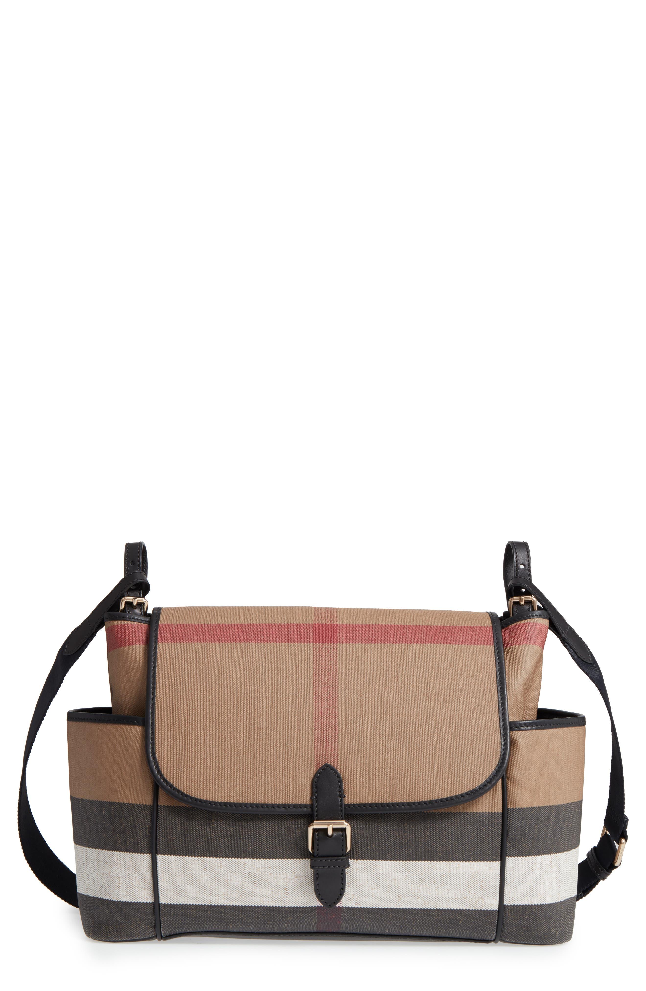 Alternate Image 1 Selected - Burberry Flap Diaper Bag