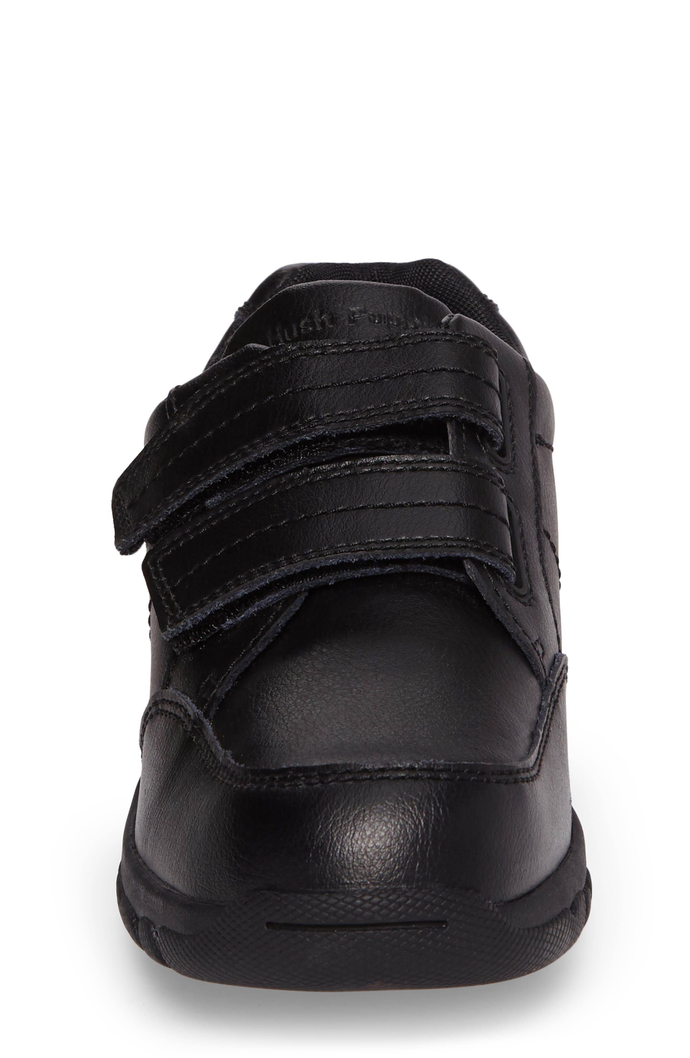 Jace Dress Sneaker,                             Alternate thumbnail 4, color,                             Black Leather