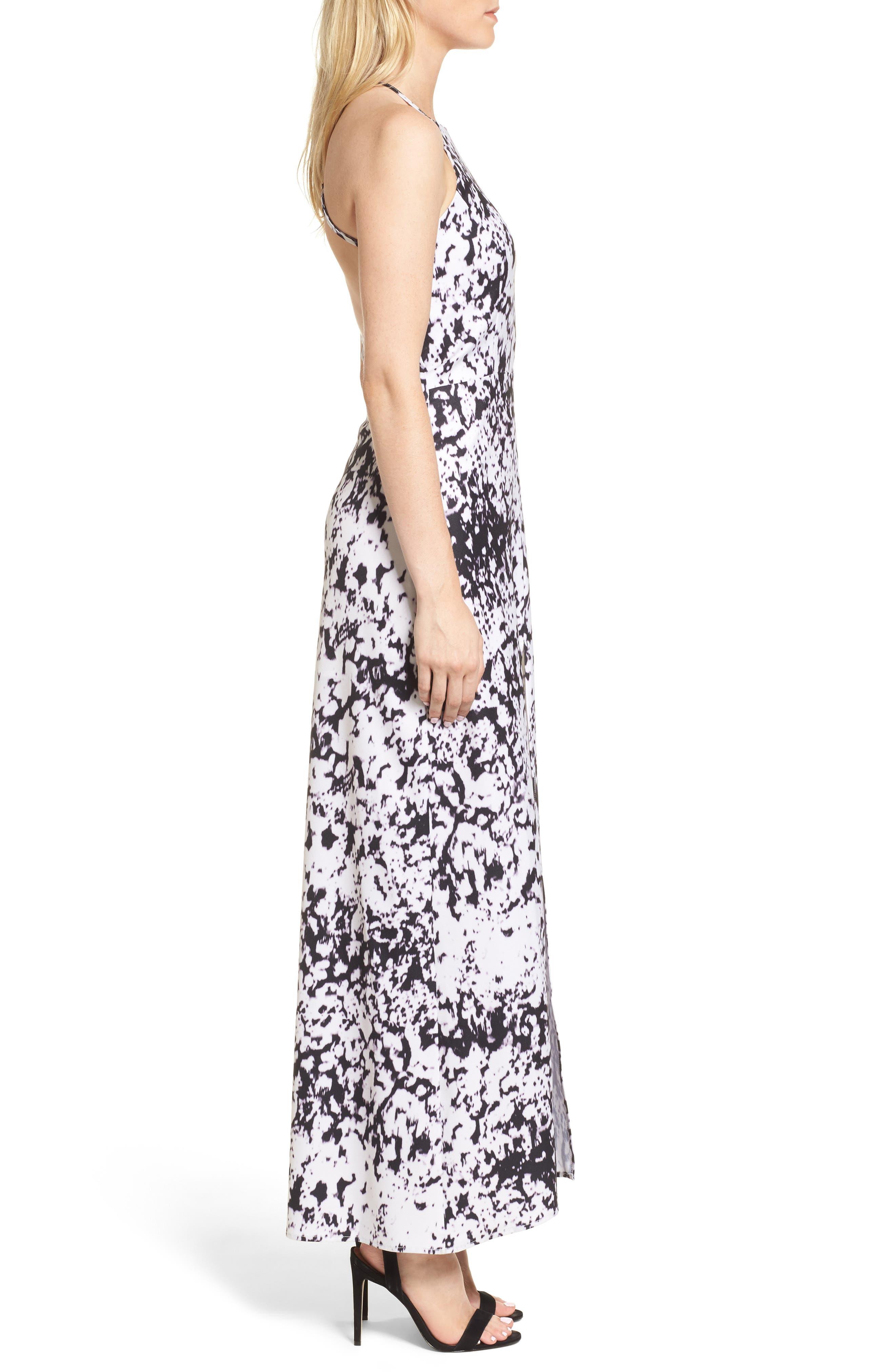 Halter Maxi Dress,                             Alternate thumbnail 3, color,                             Storm