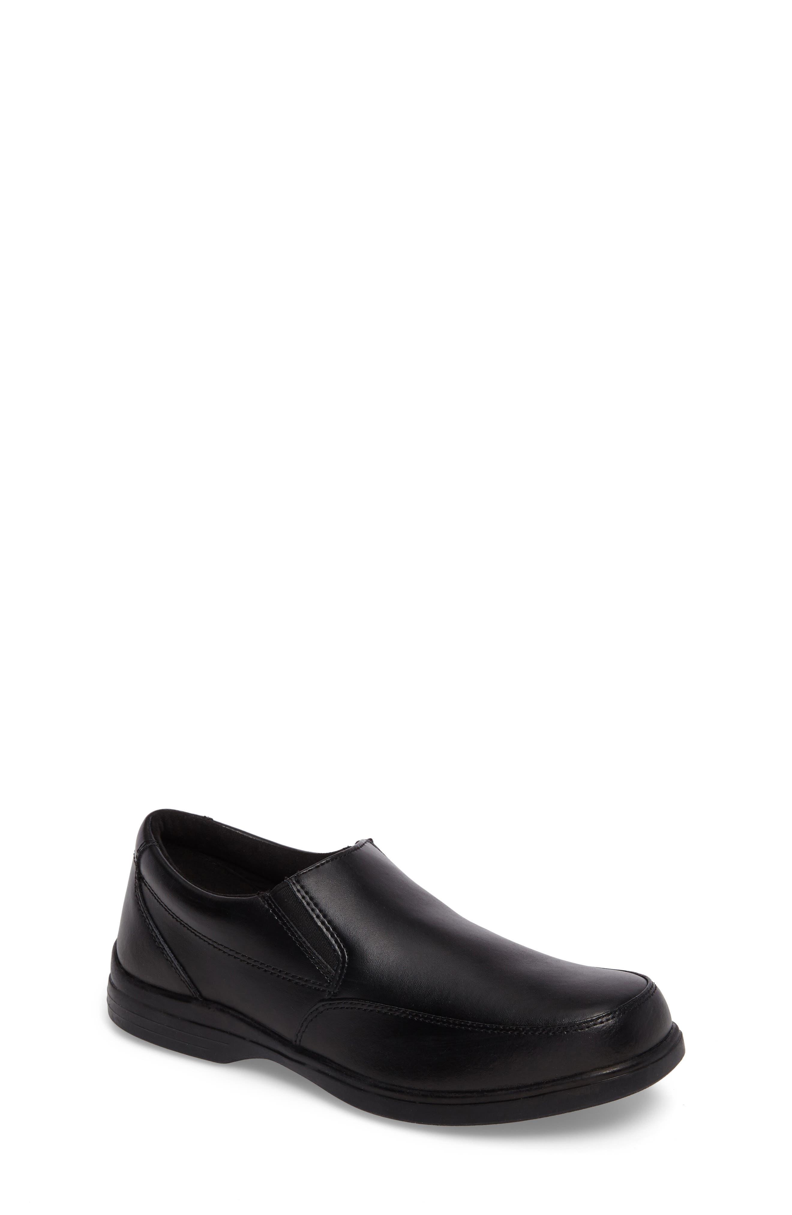 Shane Slip-On Dress Shoe,                             Main thumbnail 1, color,                             Black Leather