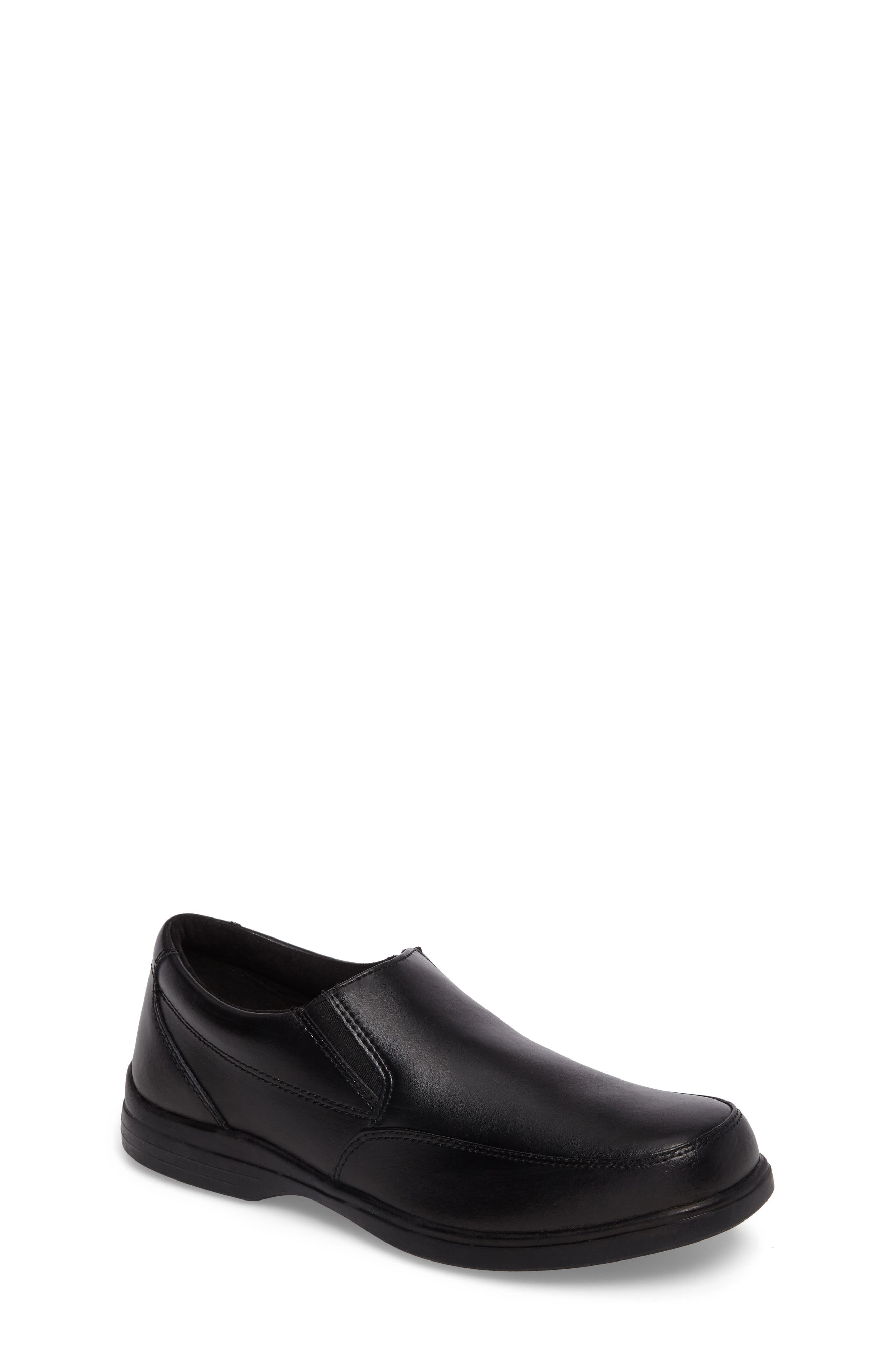 Shane Slip-On Dress Shoe,                         Main,                         color, Black Leather