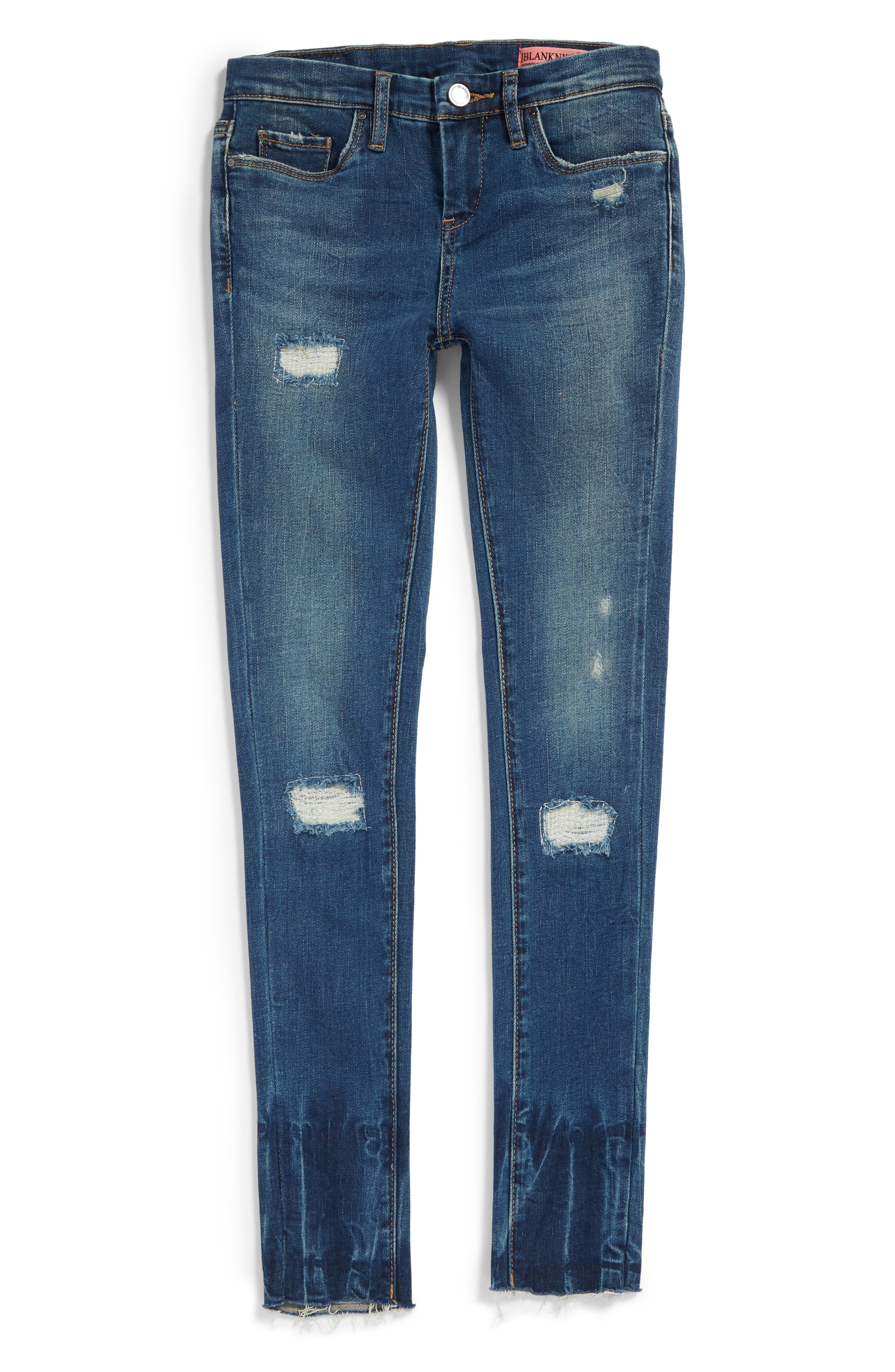 BLANKNYC Rip & Repair Skinny Jeans (Big Girls)