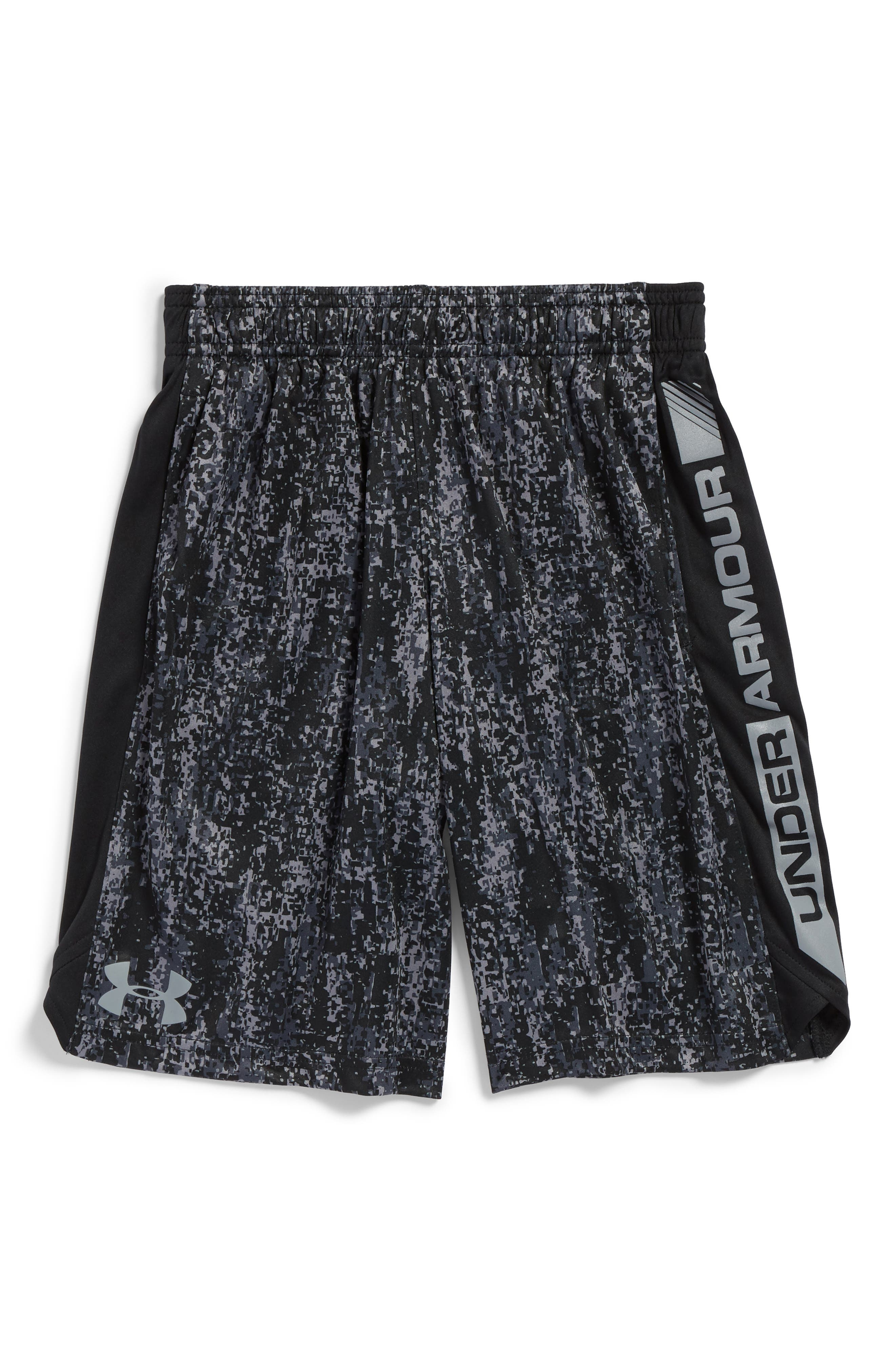 Eliminator Athletic HeatGear<sup>®</sup> Shorts,                         Main,                         color, Black/ Steel