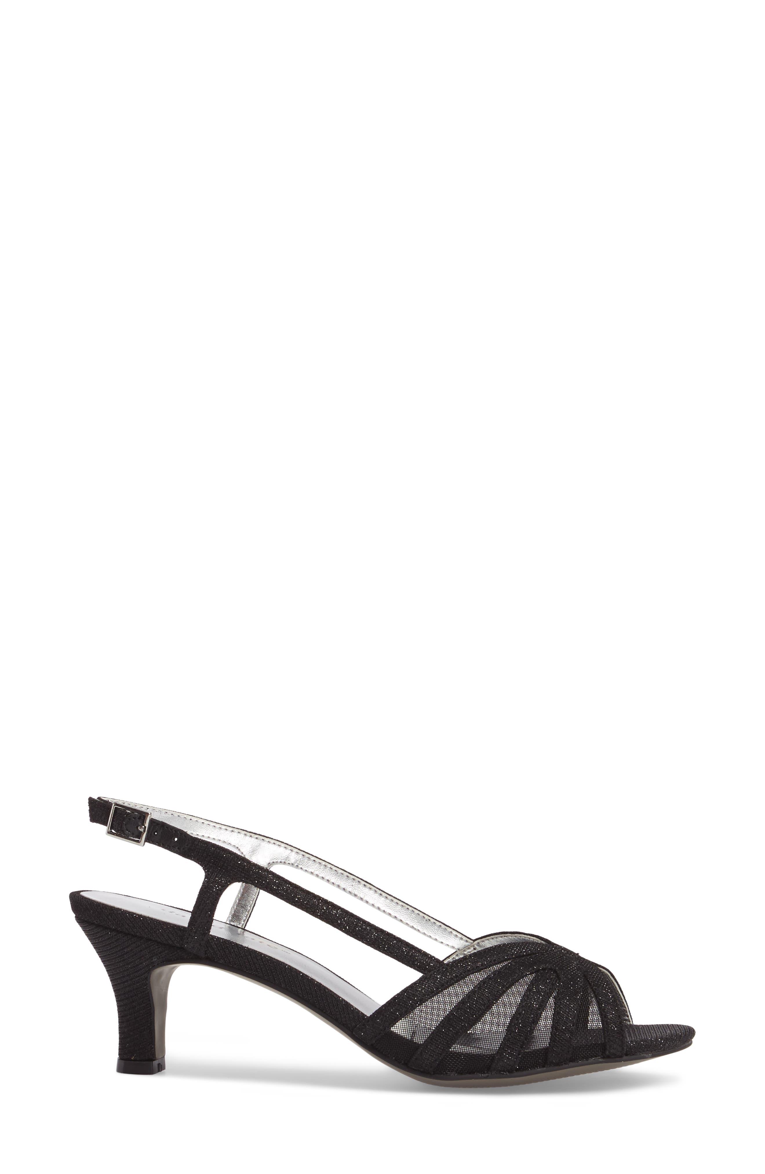 Ritz Slingback Sandal,                             Alternate thumbnail 3, color,                             Black