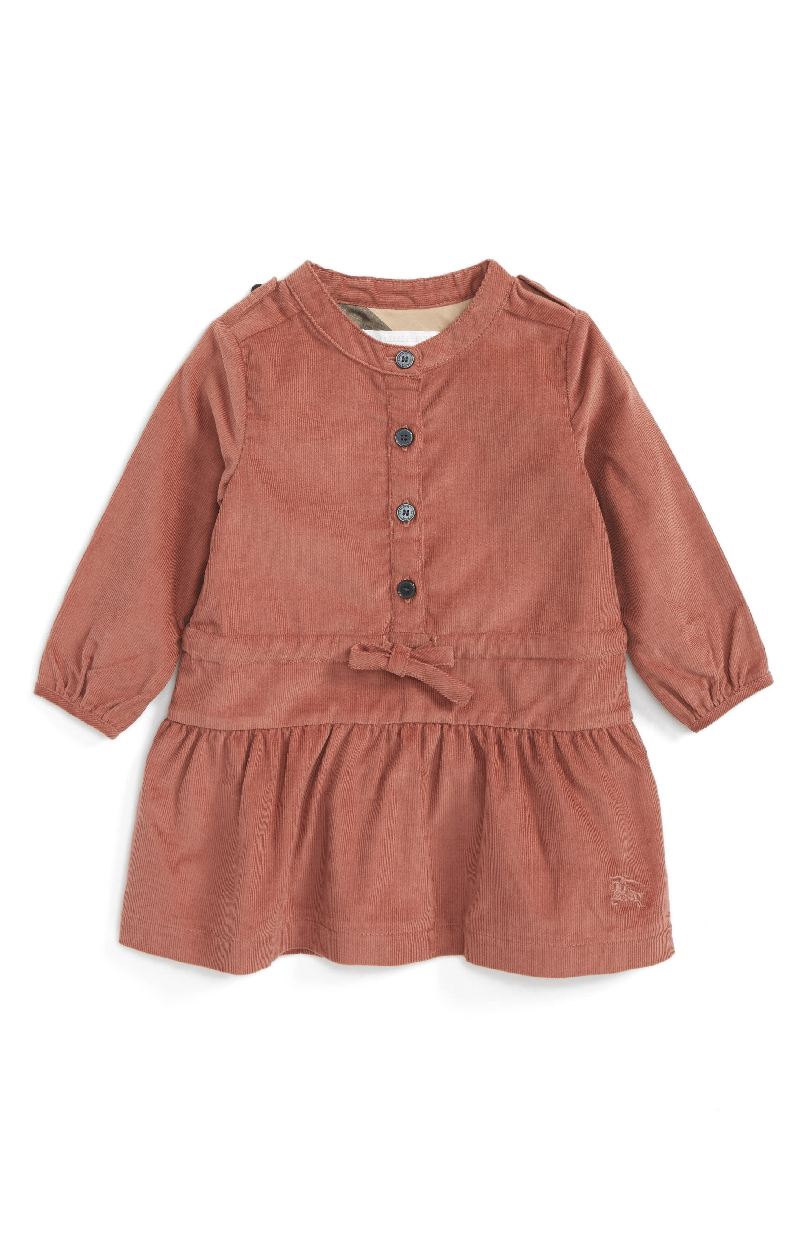 Burberry Mini Celestine Corduroy Dress (Baby Girls)