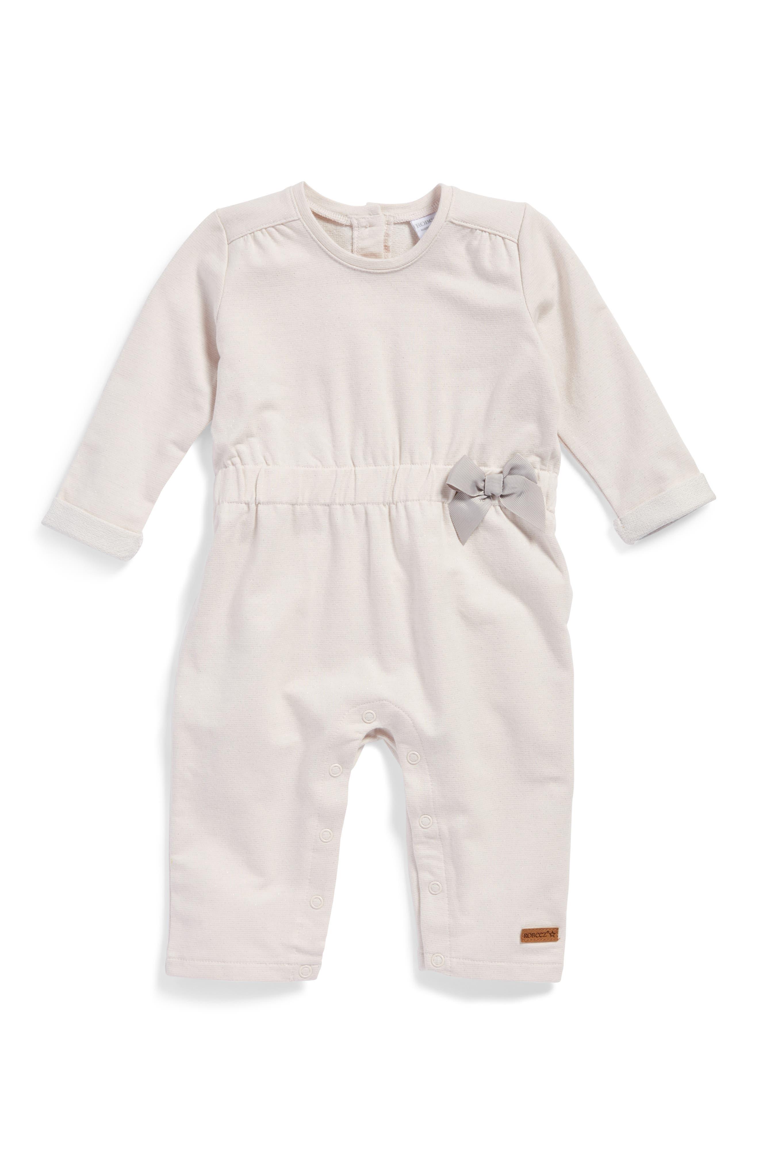 Main Image - Robeez® Sparkle Romper (Baby Girls)