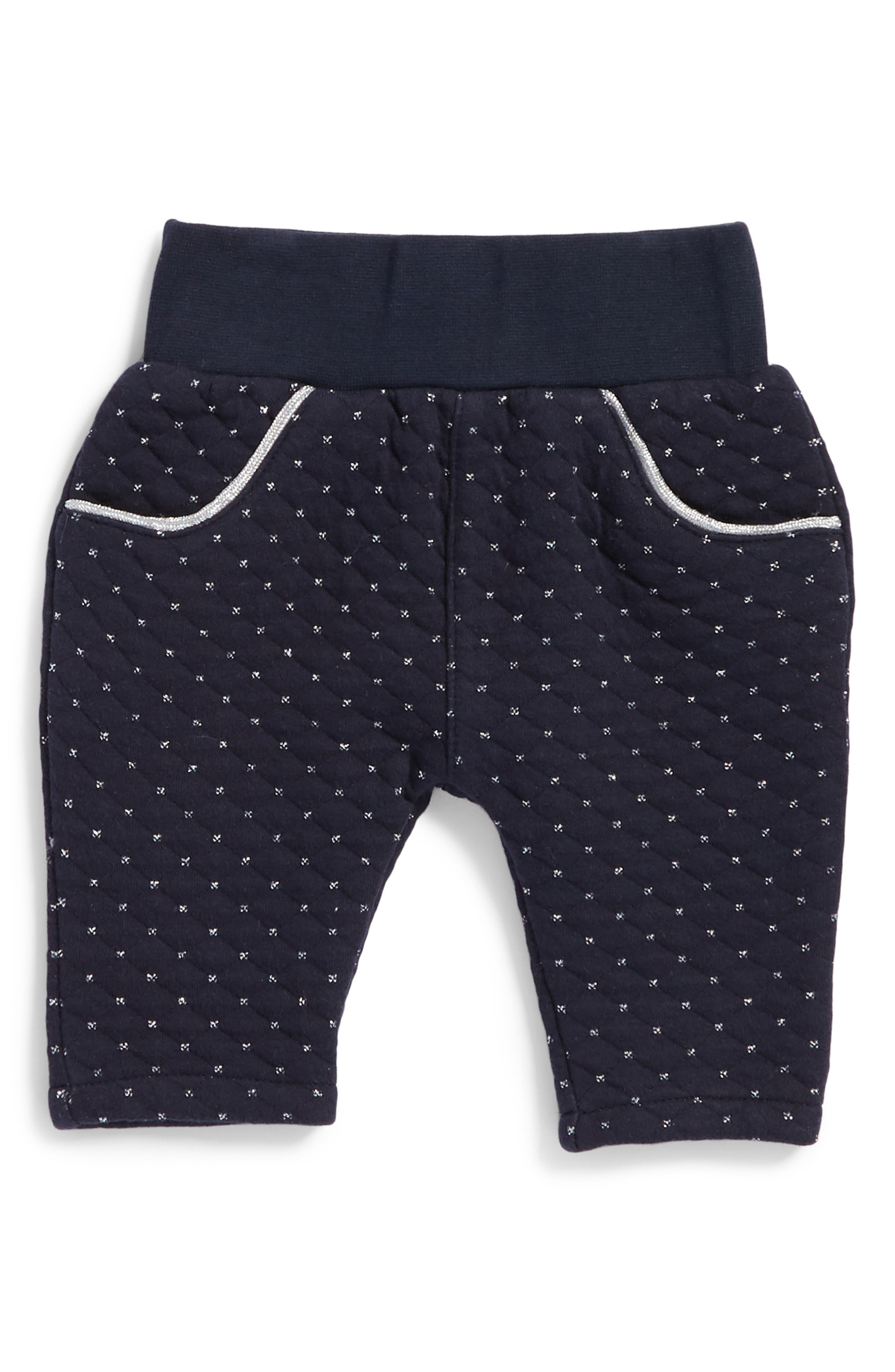Alternate Image 1 Selected - Robeeze® Quilted Pants (Baby Girl)