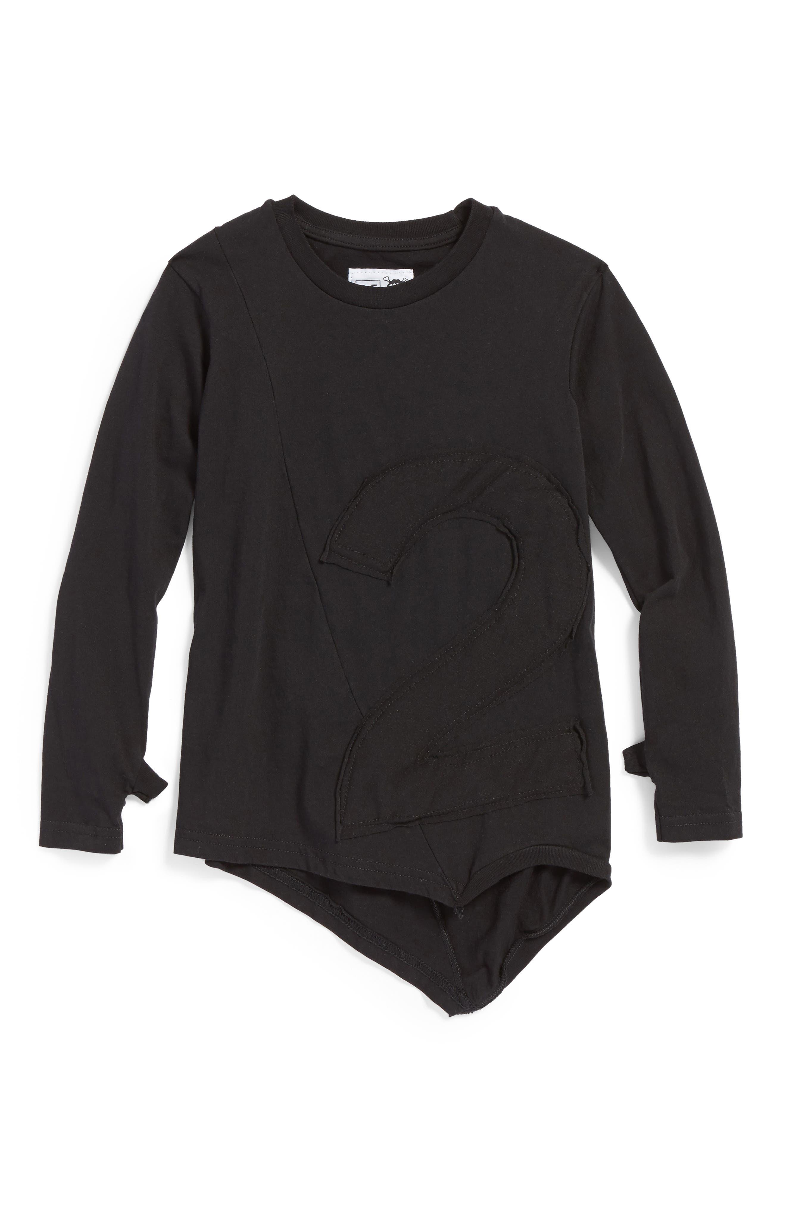Main Image - NUNUNU Puffy Number Penguin Shirt (Toddler Girls & Little Girls)