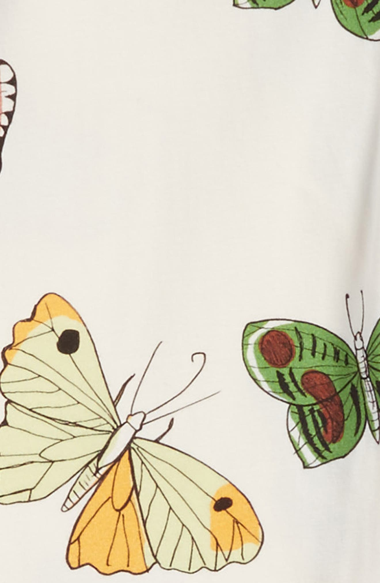 Alternate Image 2  - Mini Rodini Butterflies Organic Cotton Leggings (Toddler Girls & Little Girls)
