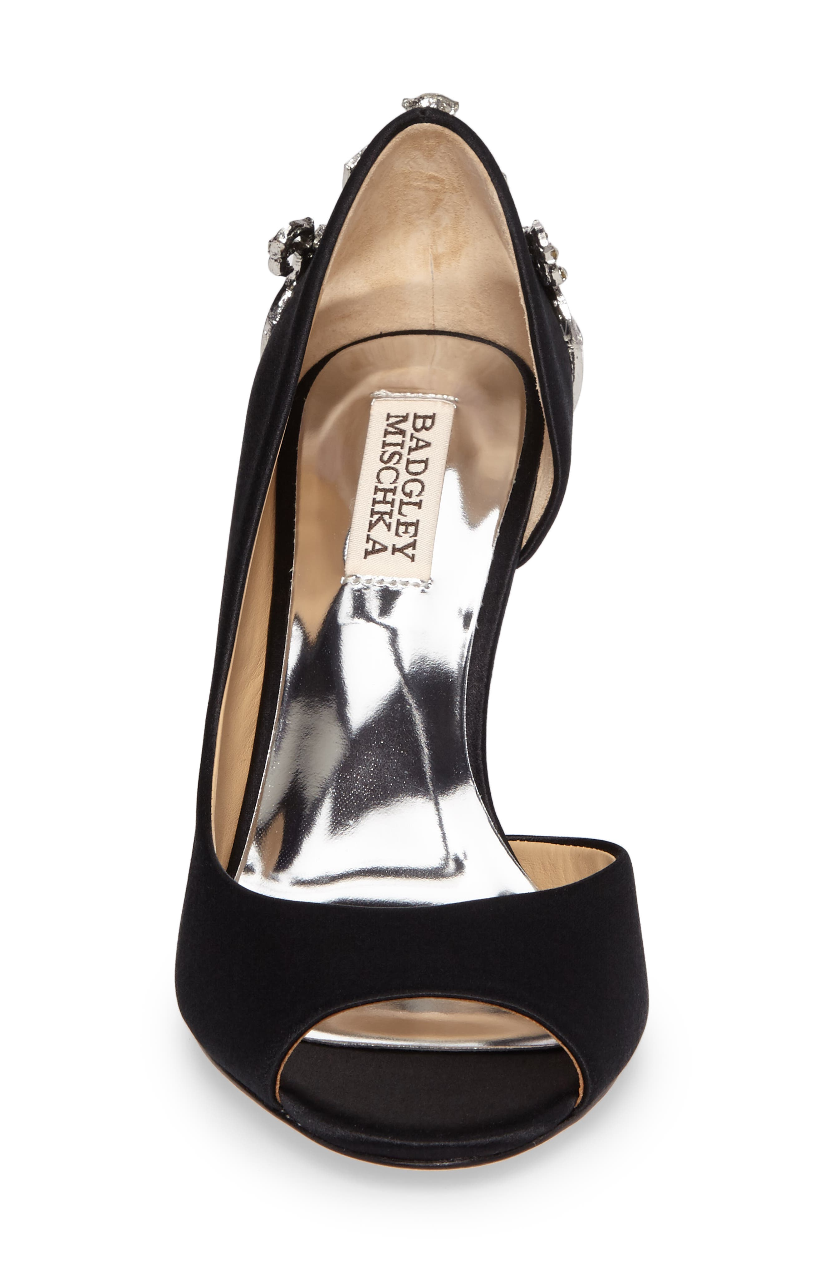 Alternate Image 4  - Badgley Mischka Meagan Embellished Peep Toe Wedge (Women)
