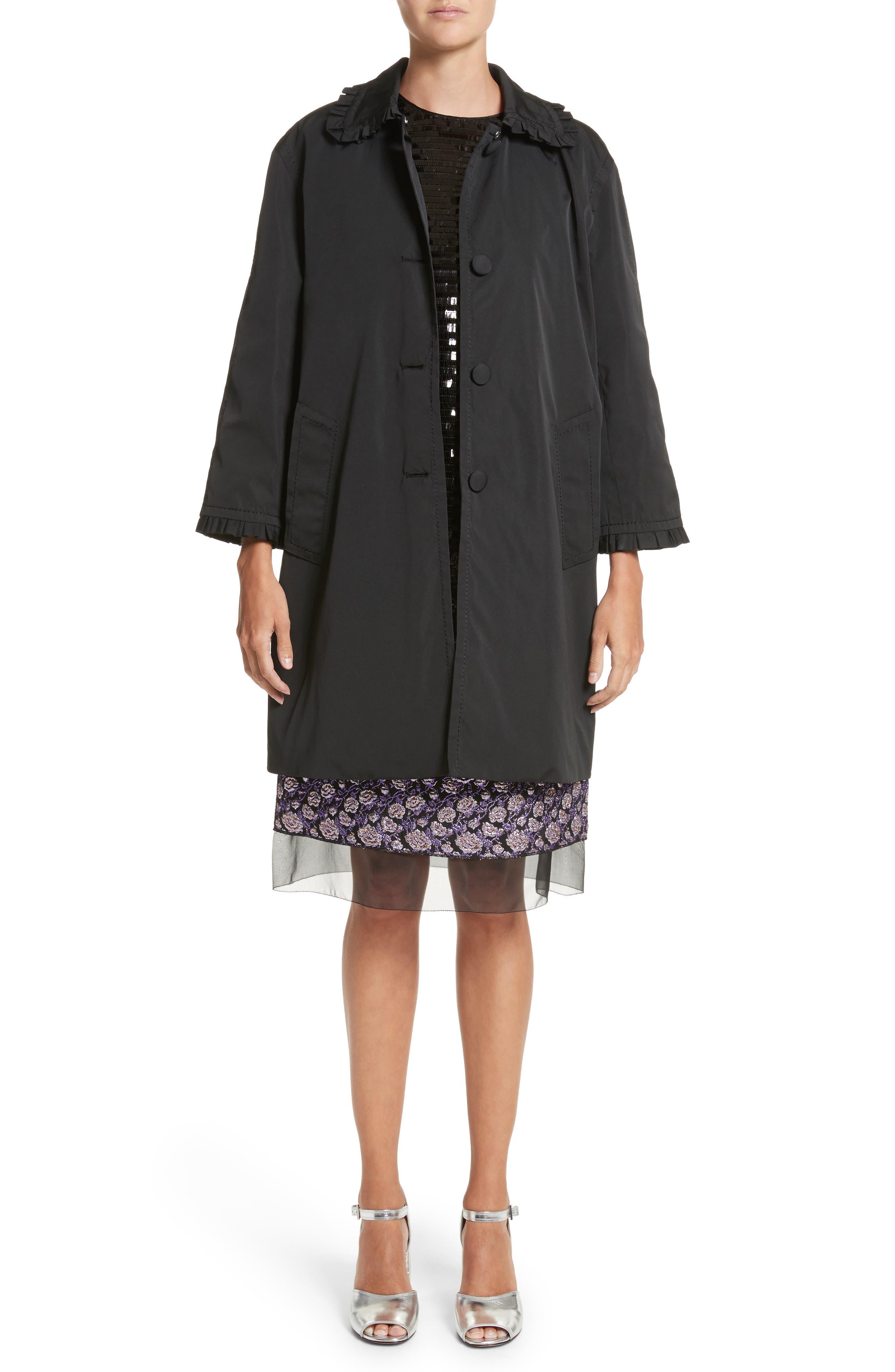 Metallic Jacquard Pencil Skirt,                             Alternate thumbnail 7, color,                             Purple Multi
