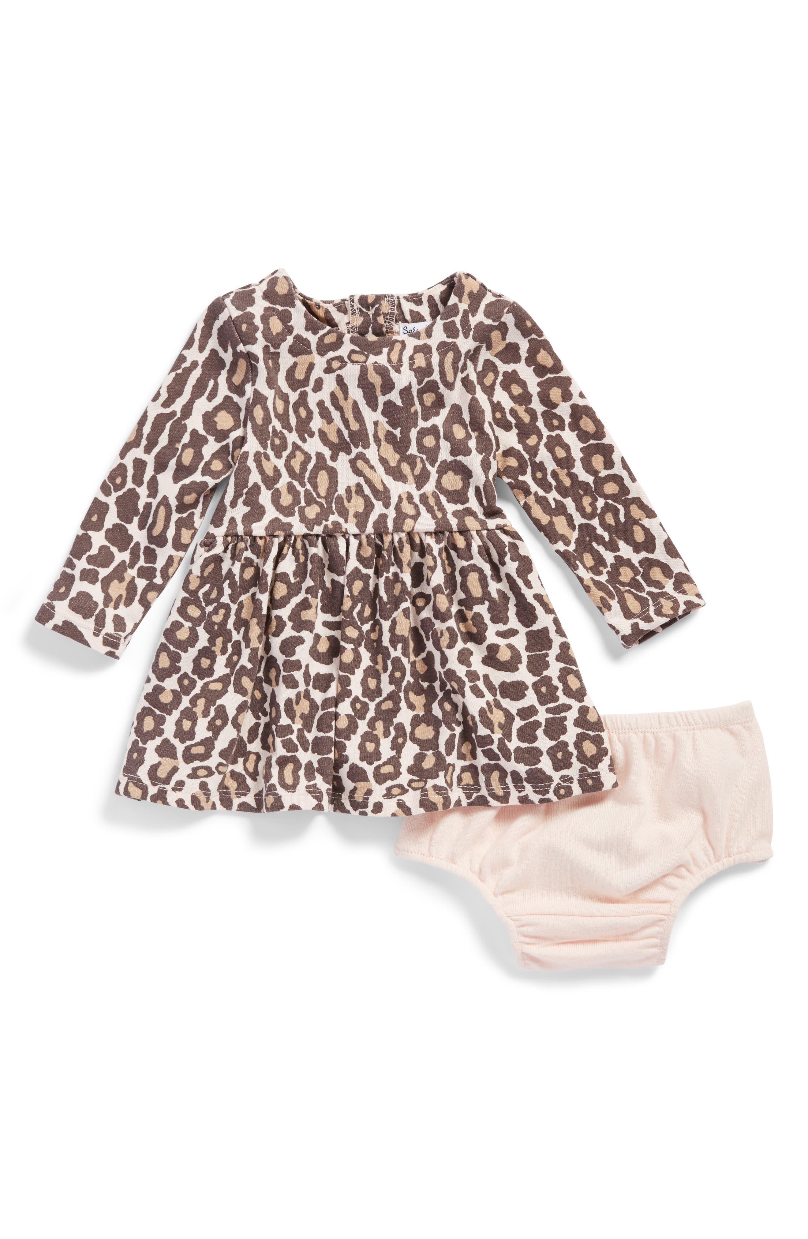 Splendid Animal Print Knit Dress (Baby Girls)