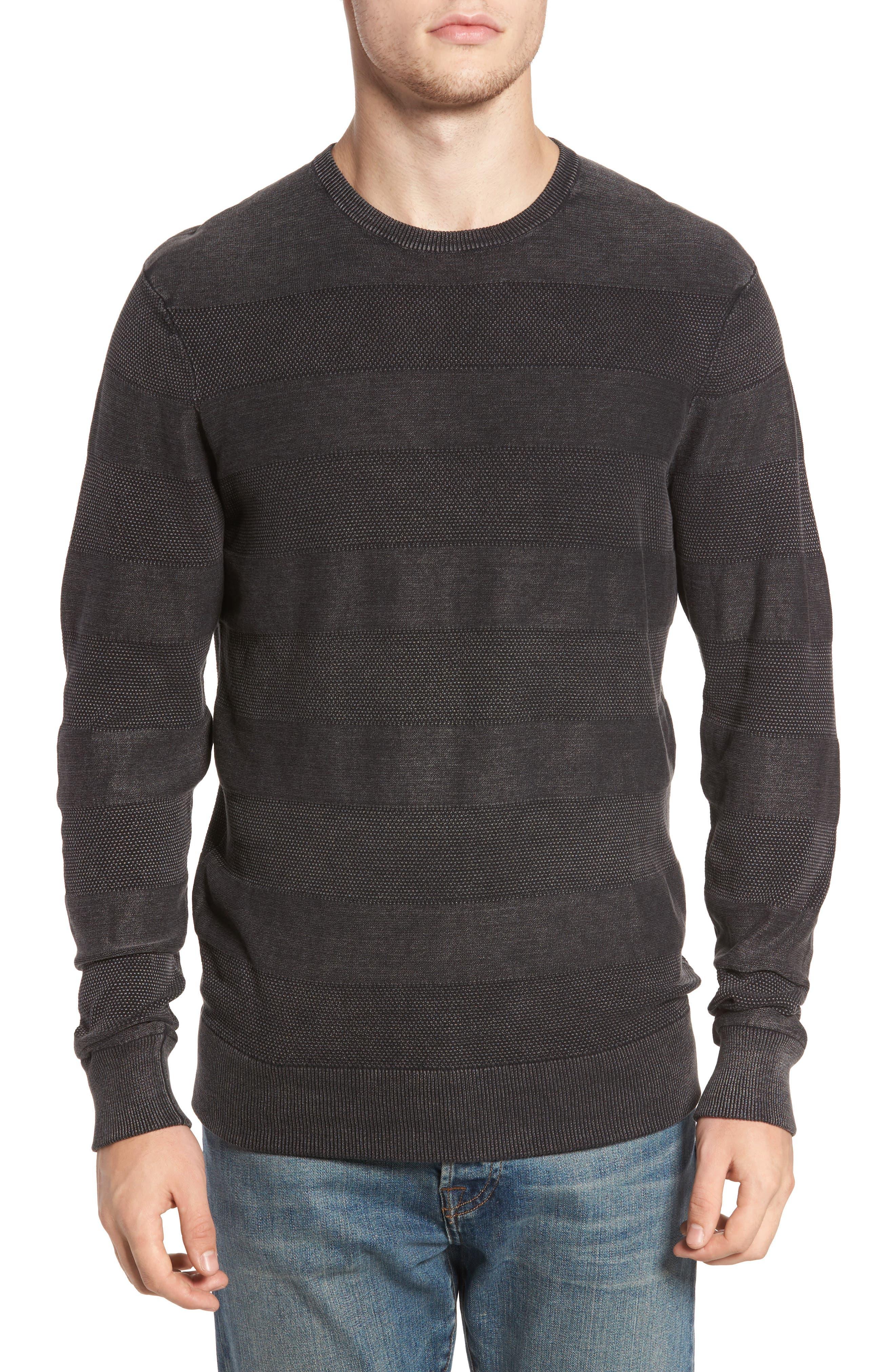 Sunfaded Stripe Sweater,                             Main thumbnail 1, color,                             Black Rock