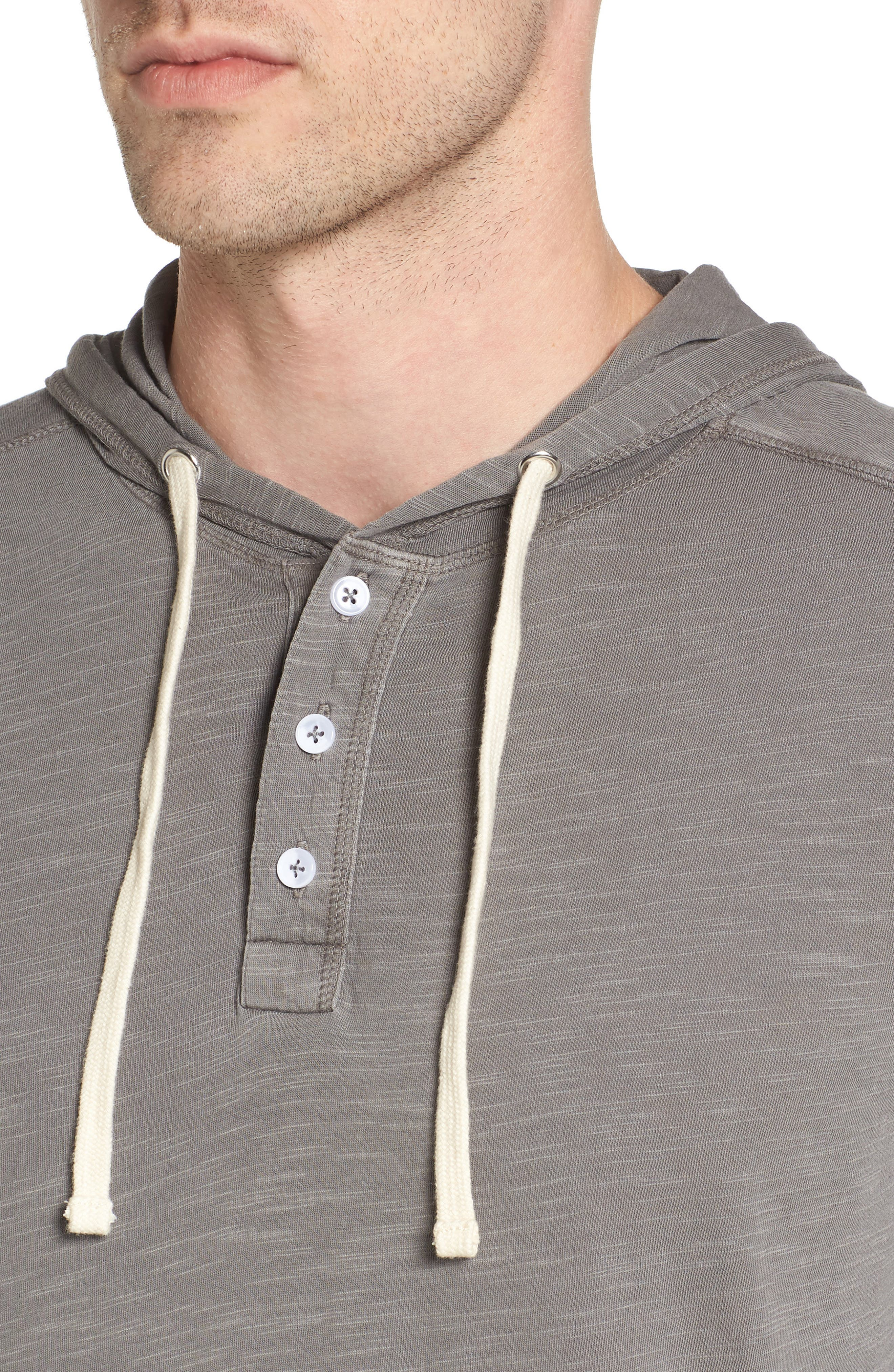 Henley Hoodie,                             Alternate thumbnail 5, color,                             Grey Charcoal