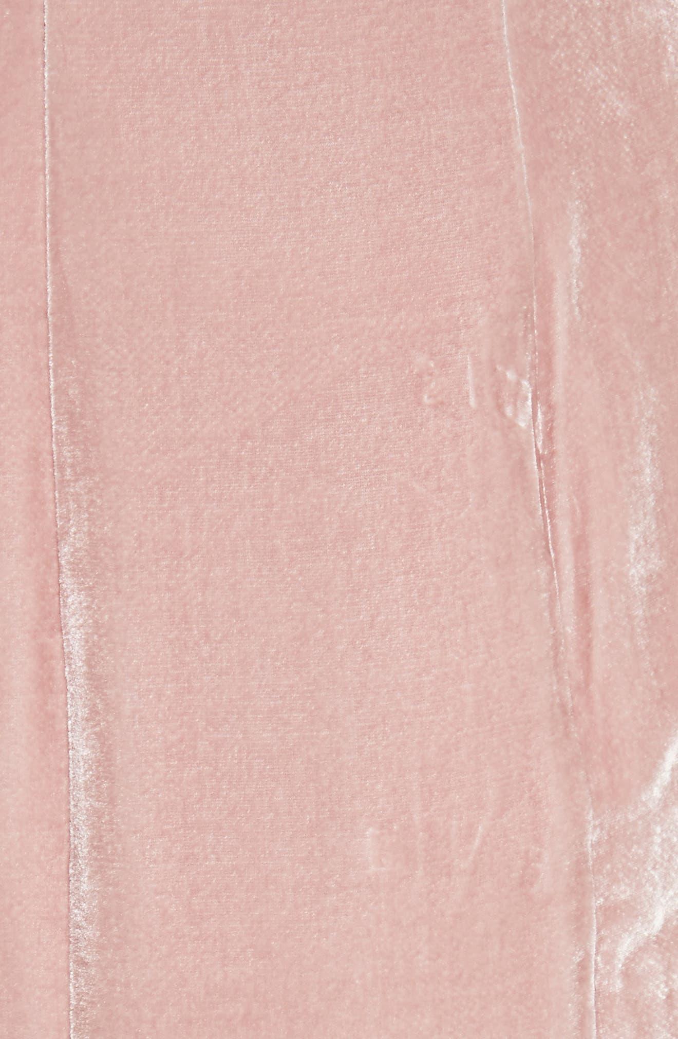 Marceau Velvet Dress,                             Alternate thumbnail 5, color,                             Mauve