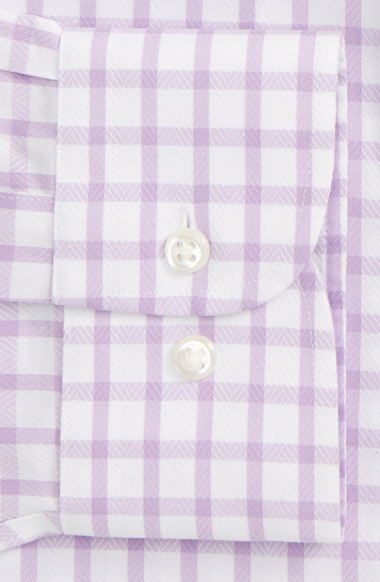 Smartcare<sup>™</sup> Trim Fit Check Dress Shirt,                             Alternate thumbnail 5, color,                             Purple Regal