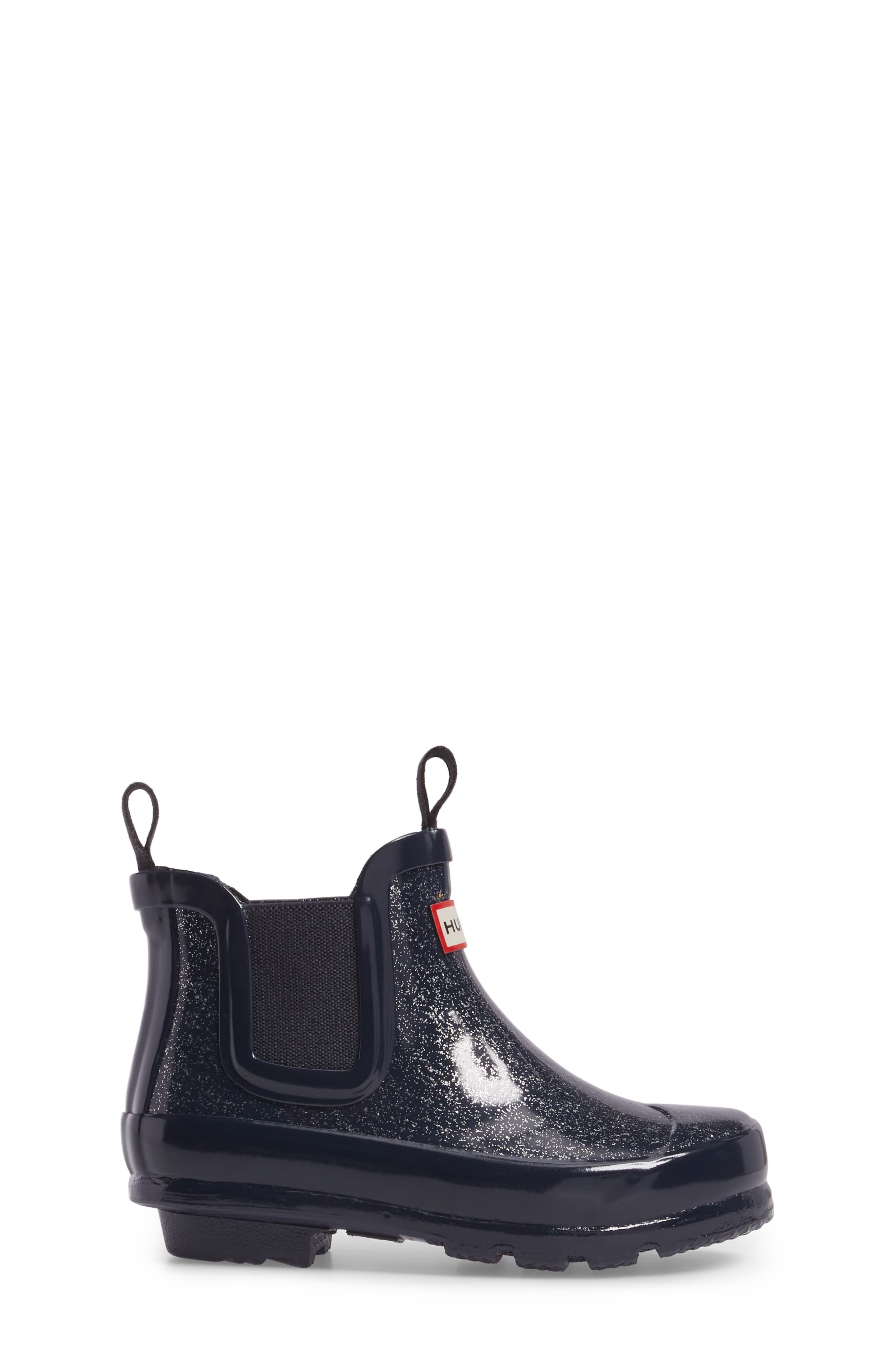 Alternate Image 3  - Hunter Originals Glittery Waterproof Chelsea Boot (Toddler)