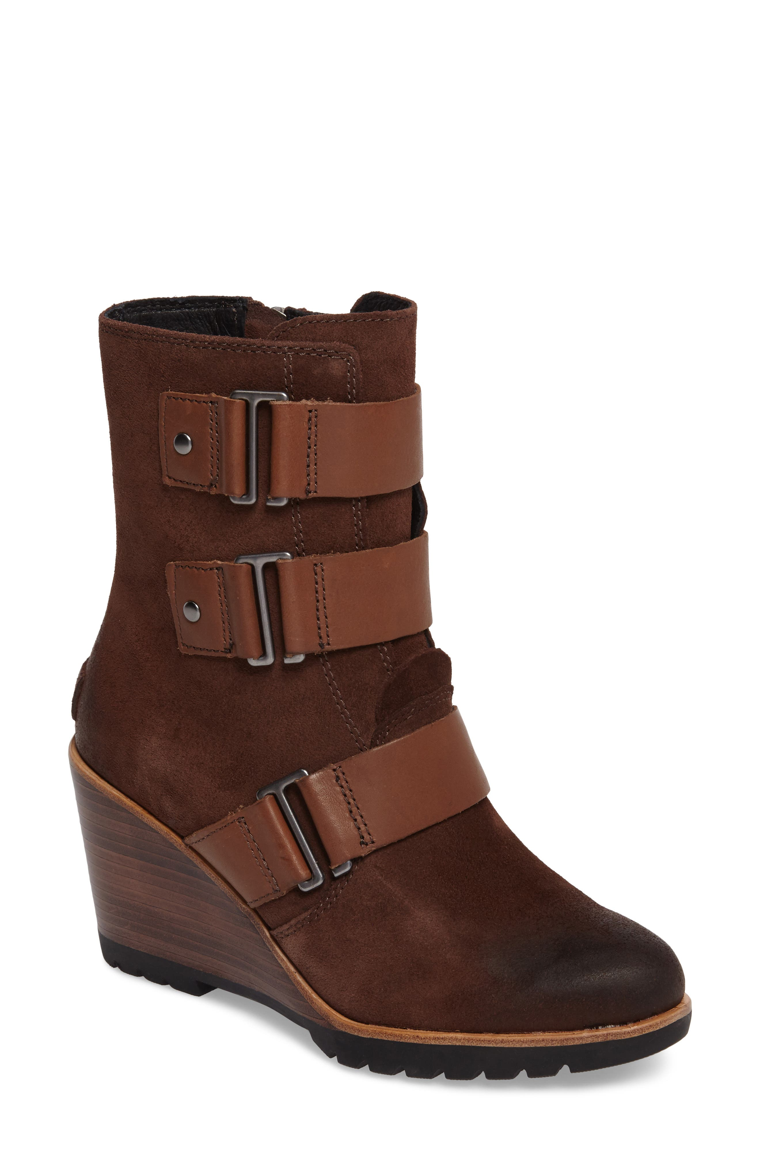 After Hours Waterproof Bootie,                         Main,                         color, Tobacco