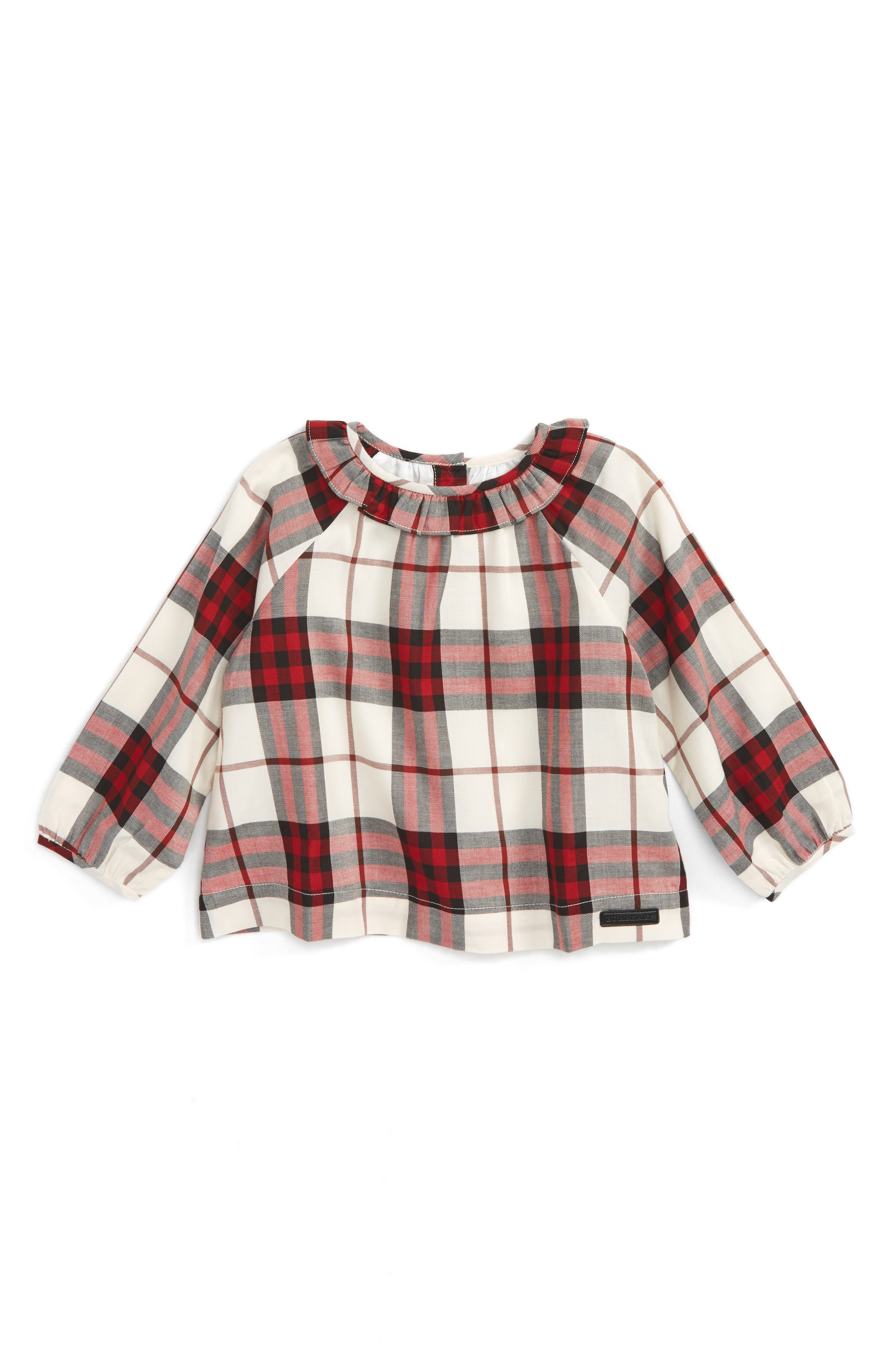 Burberry Karly Check Cotton Top (Baby Girls)