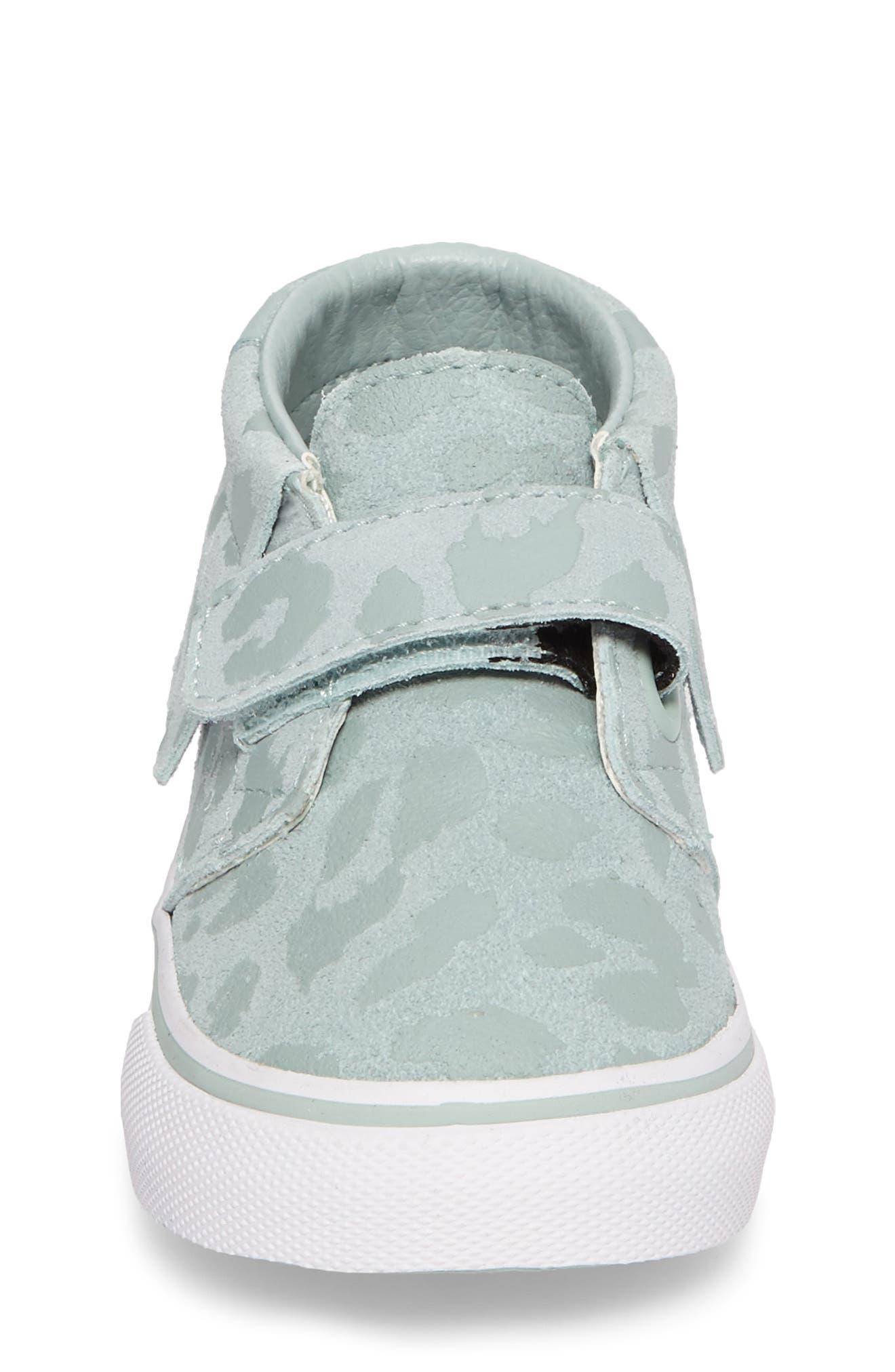 Chukka V Moc Sneaker,                             Alternate thumbnail 4, color,                             Harbor Gray Leopard Suede