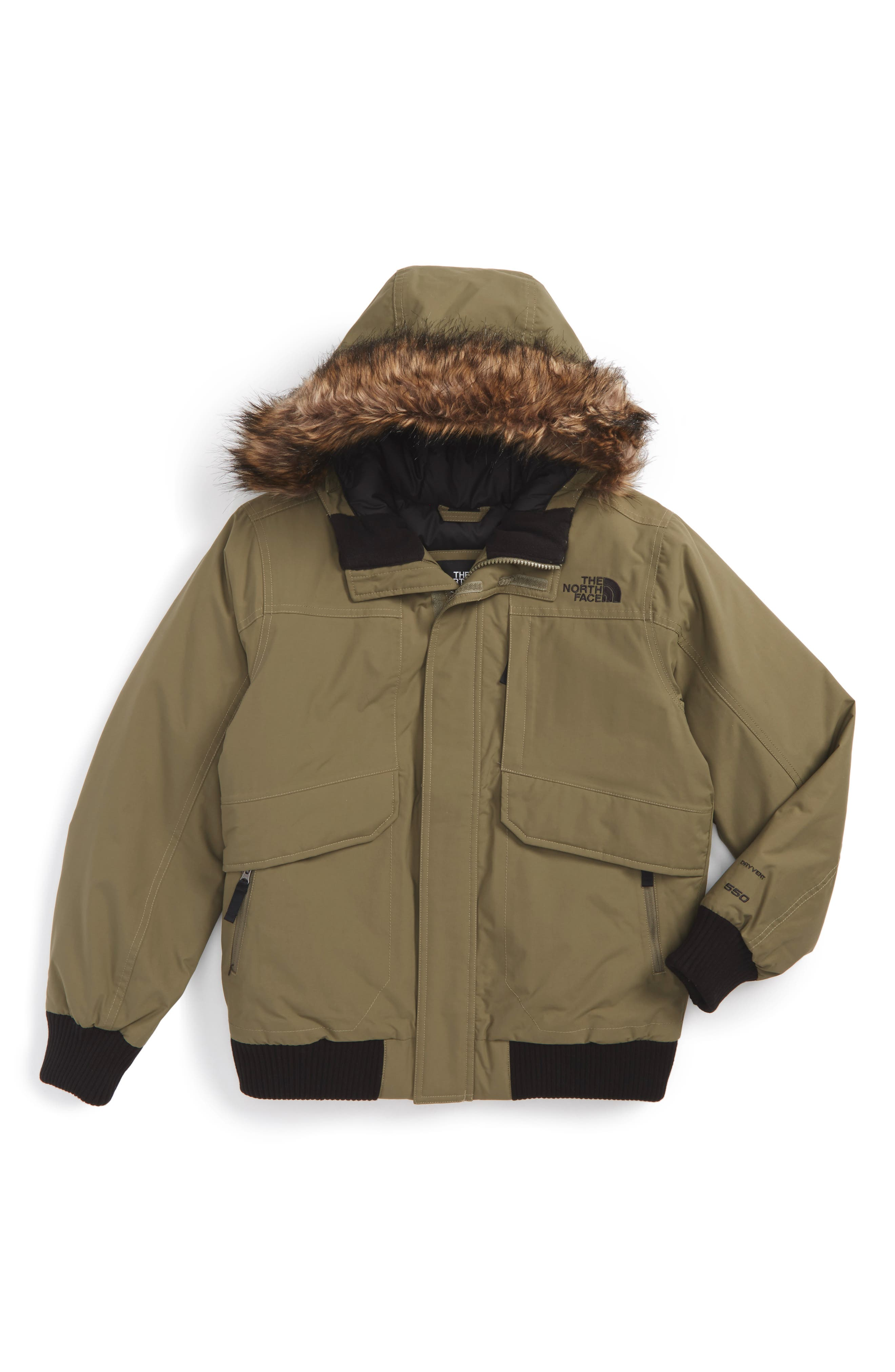 The North Face Gotham Hooded Waterproof 550-Fill Power Down Jacket (Big Boys)