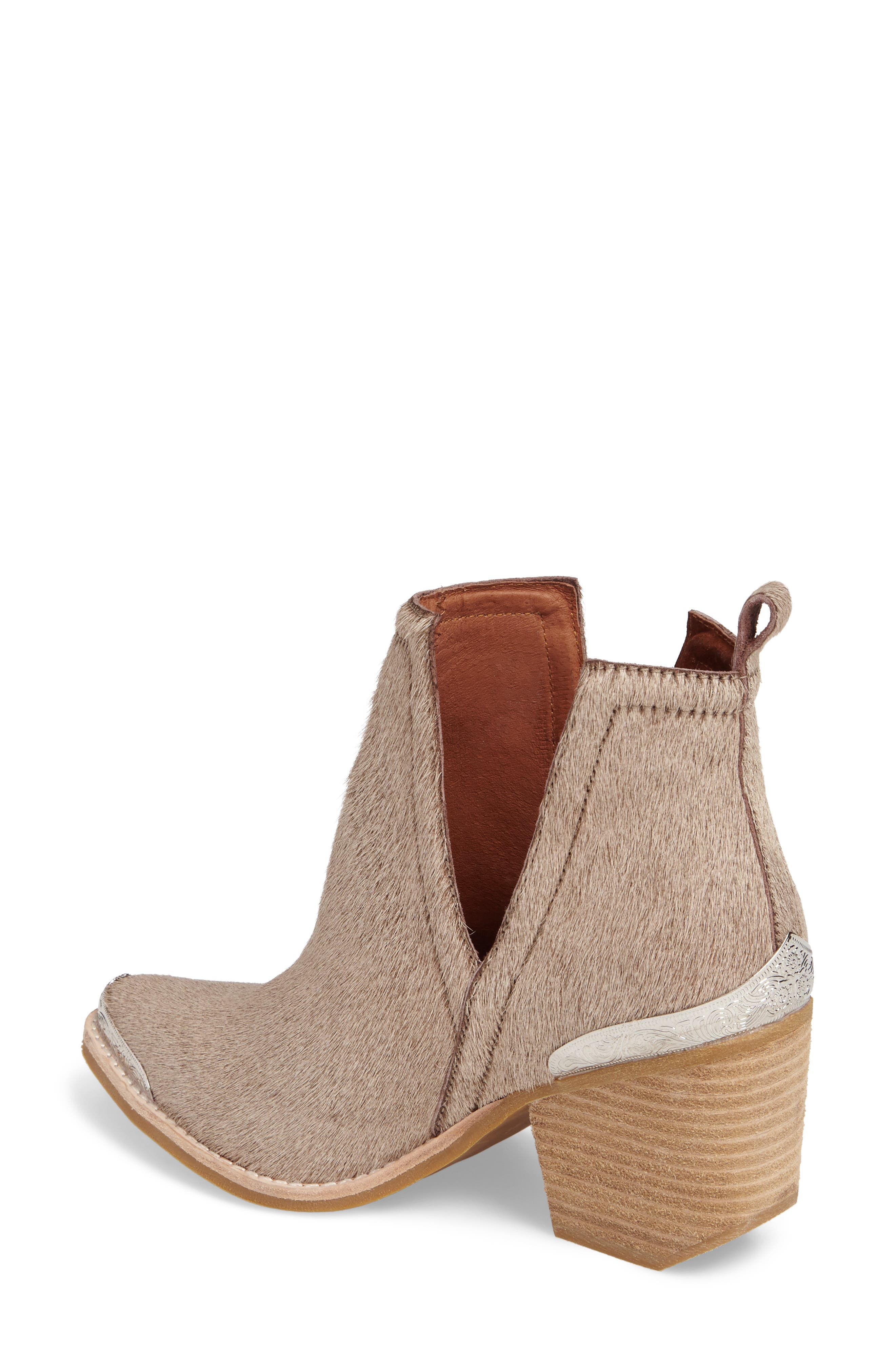 Alternate Image 2  - Jeffrey Campbell Cromwell Cutout Genuine Calf Hair Western Boot (Women)