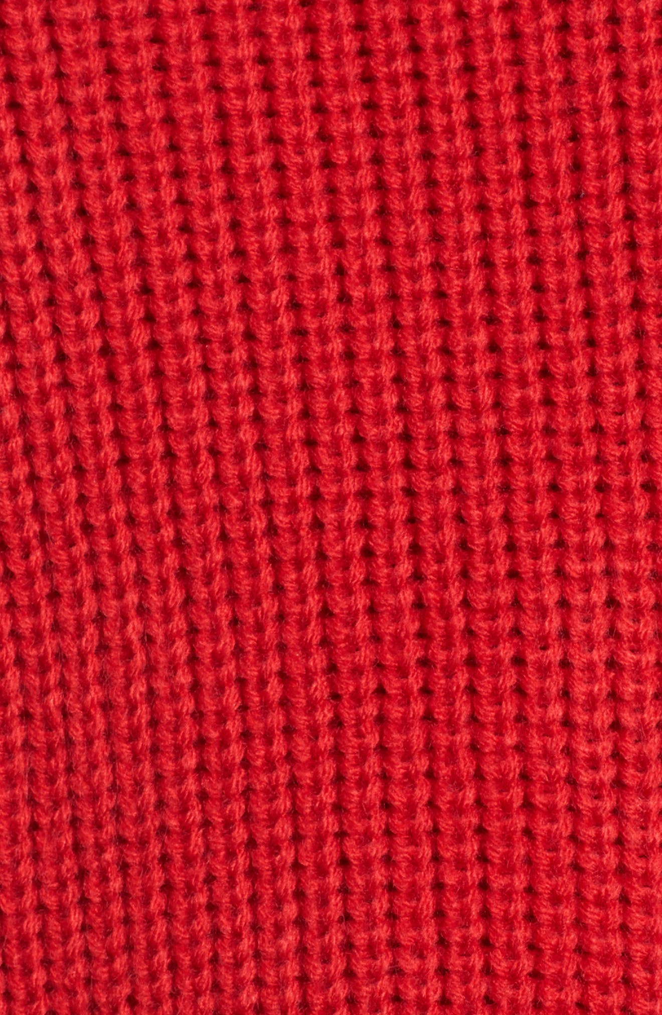 Balloon Sleeve Turtleneck Sweater,                             Alternate thumbnail 7, color,                             Red