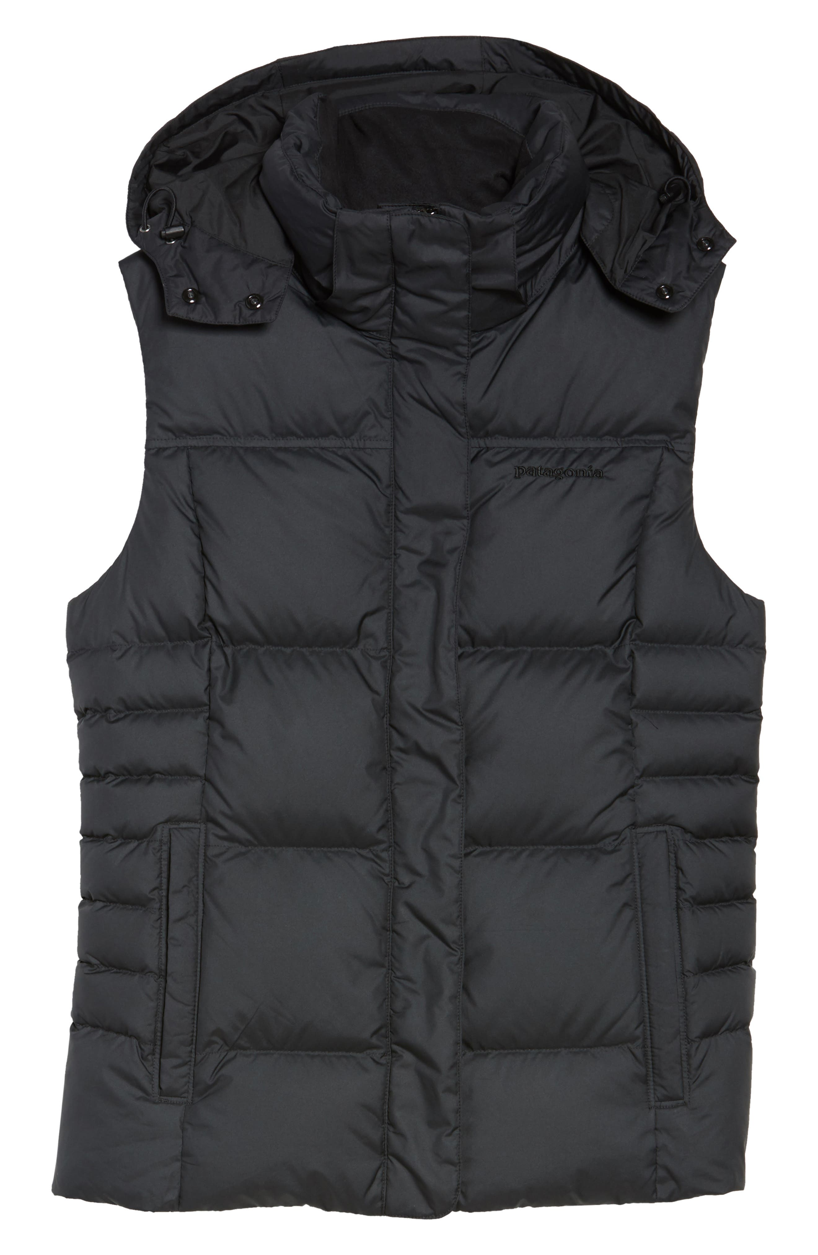 Down with It Hooded Down Vest,                             Alternate thumbnail 7, color,                             Black