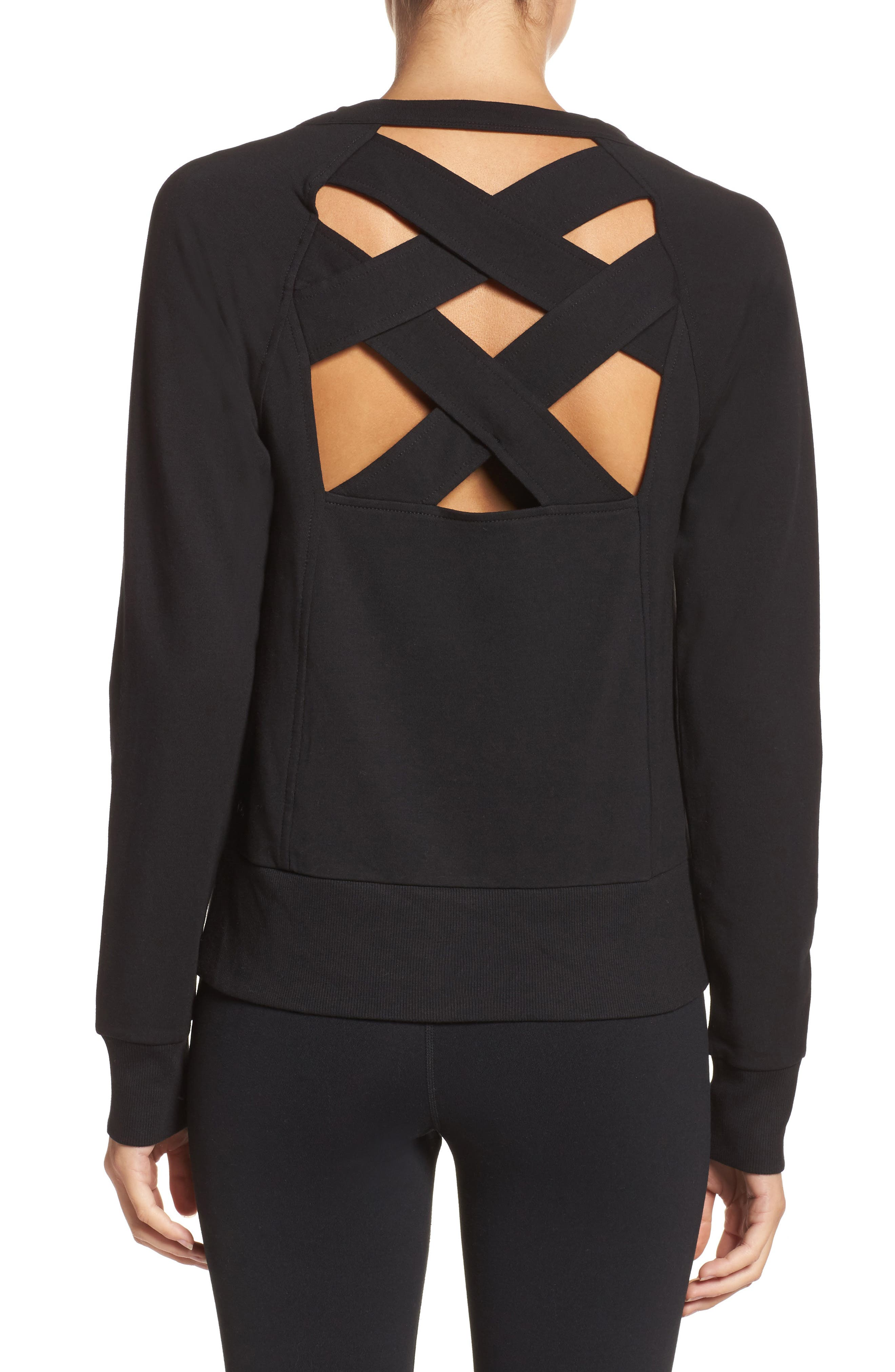 Zella Covet Crisscross Sweatshirt