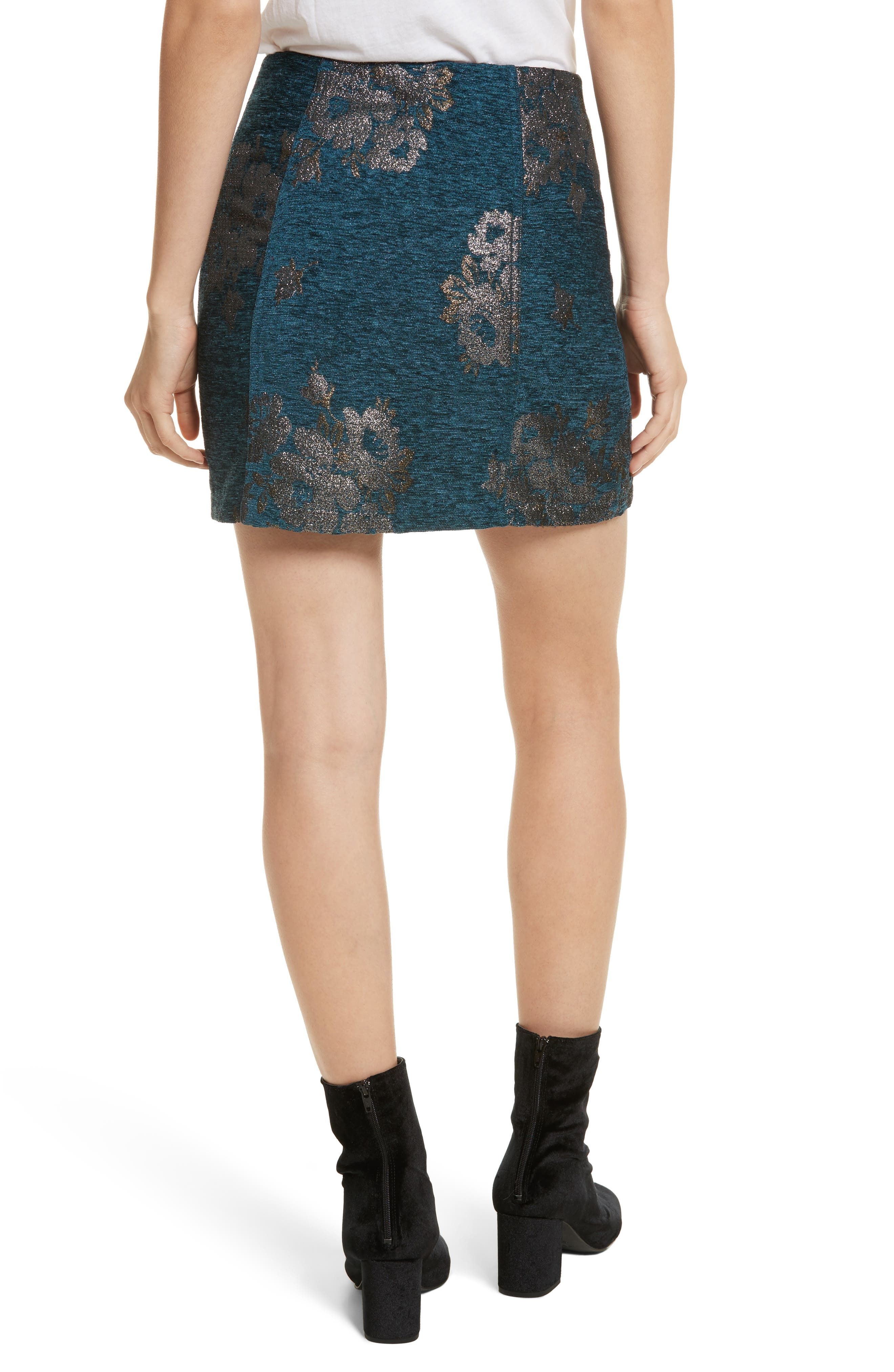 Movin' On Miniskirt,                             Alternate thumbnail 2, color,                             Dark Turquoise