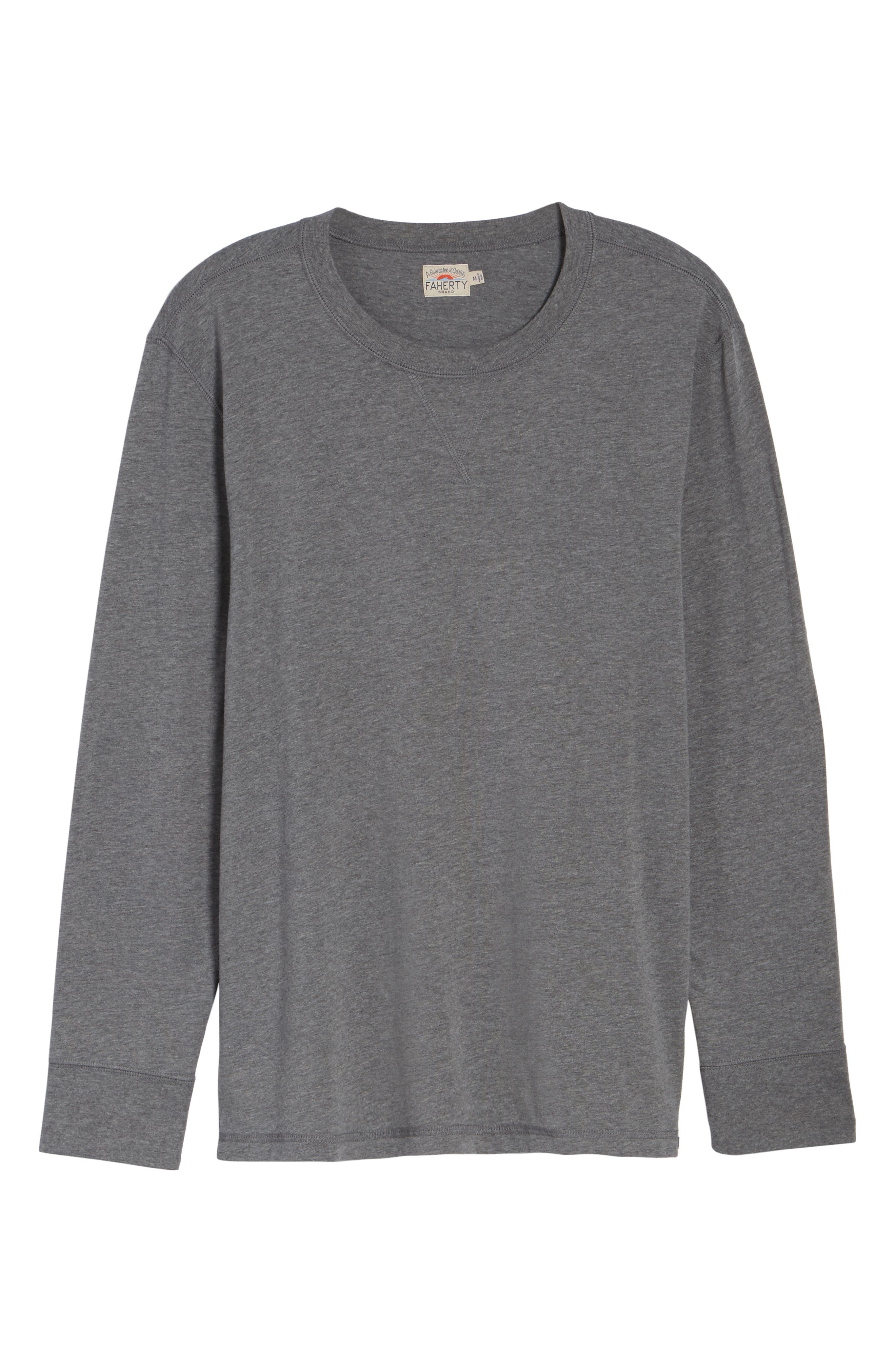 Notch Long Sleeve T-Shirt,                             Alternate thumbnail 6, color,                             Grey