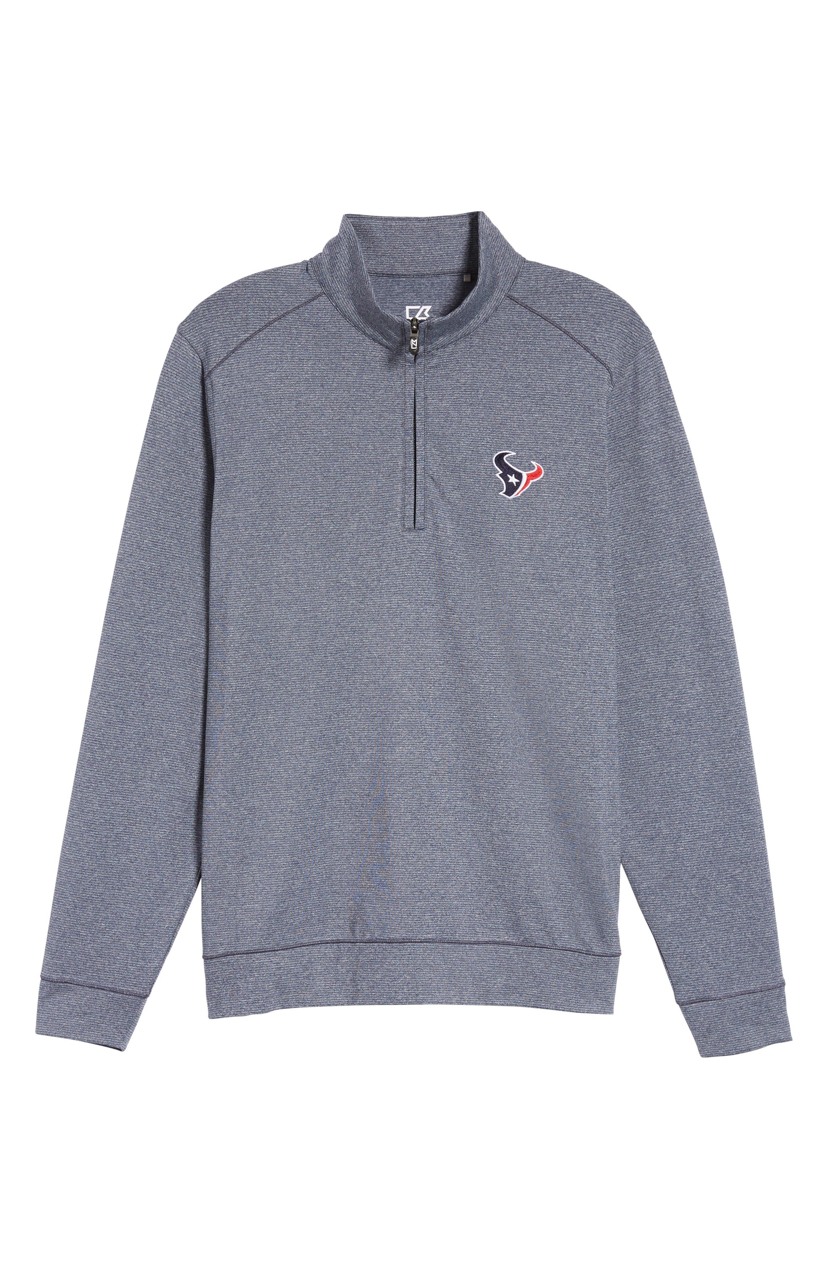 Shoreline - Houston Texans Half Zip Pullover,                             Alternate thumbnail 6, color,                             Liberty Navy Heather