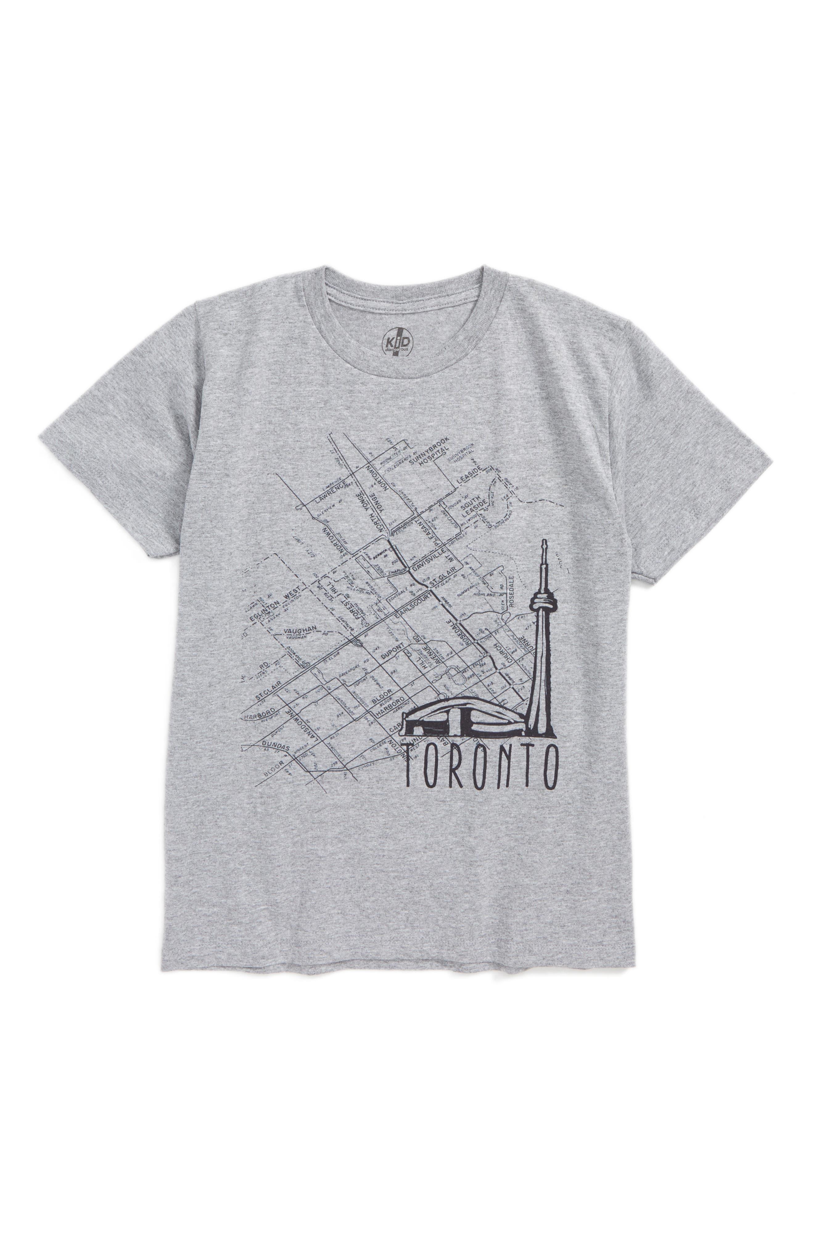 Kid Dangerous Toronto Map Graphic T-Shirt (Big Boys)