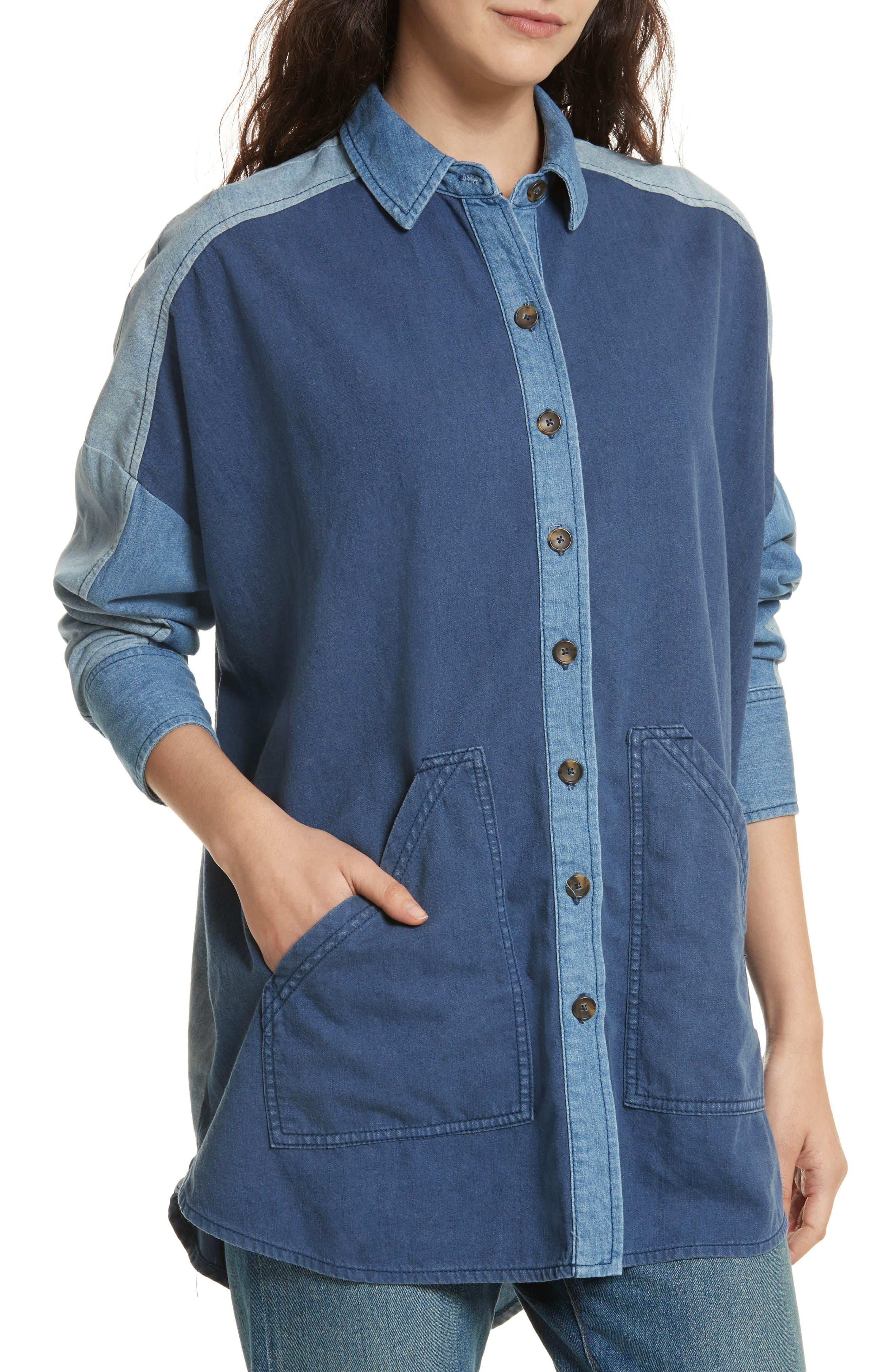 Alternate Image 4  - Free People Superstar Chambray Shirt