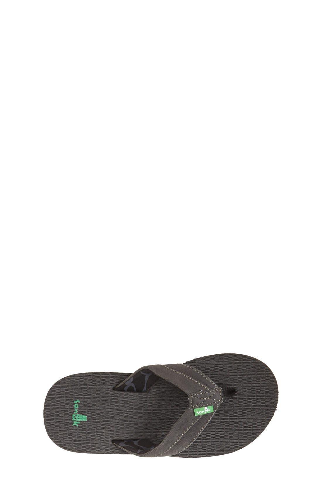 'Rootbeer Cozy' Lightweight Flip Flop Sandal,                             Alternate thumbnail 3, color,                             Black