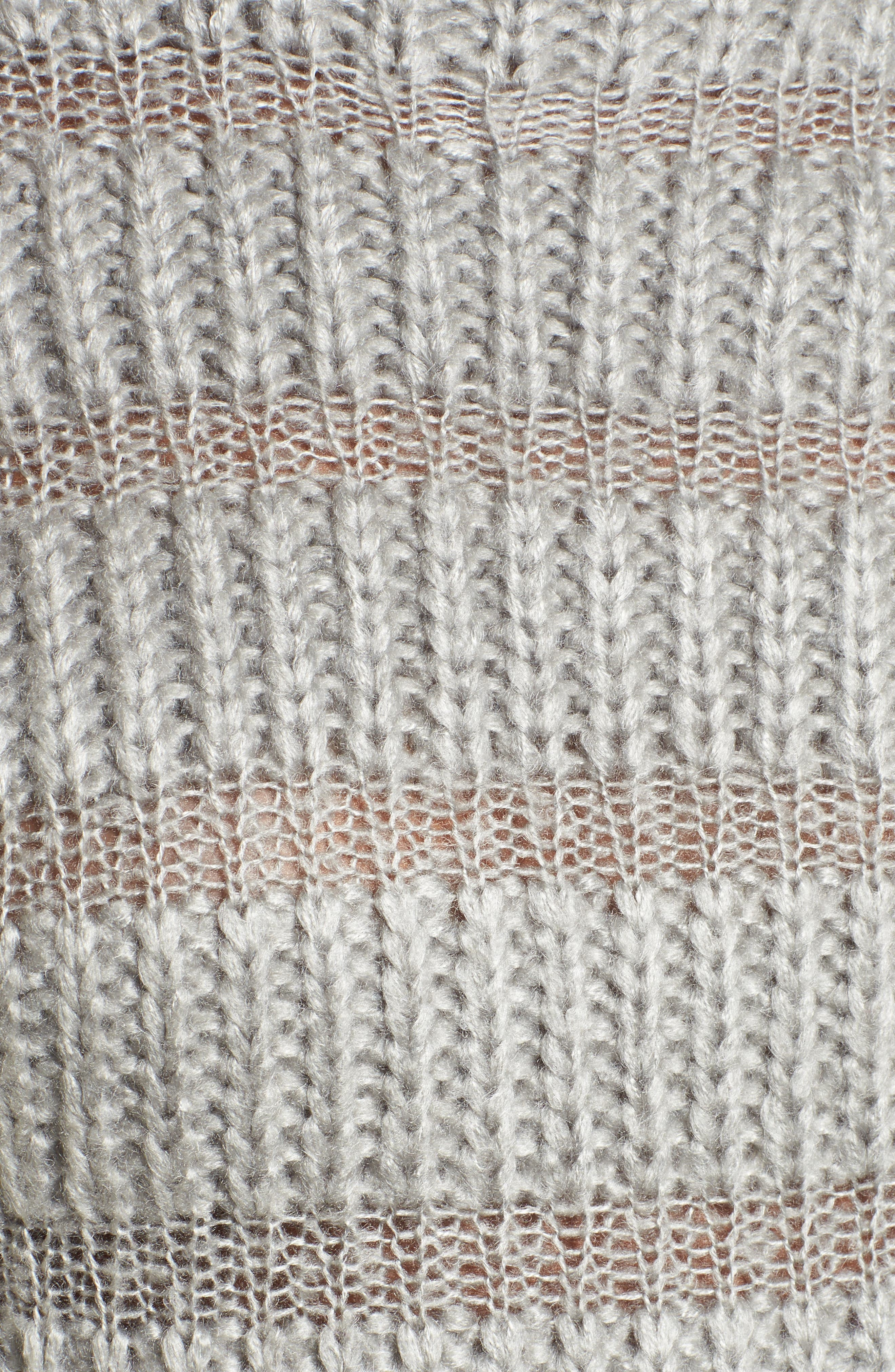 Alternate Image 6  - Moon River Textured Stripe Crop Sweater