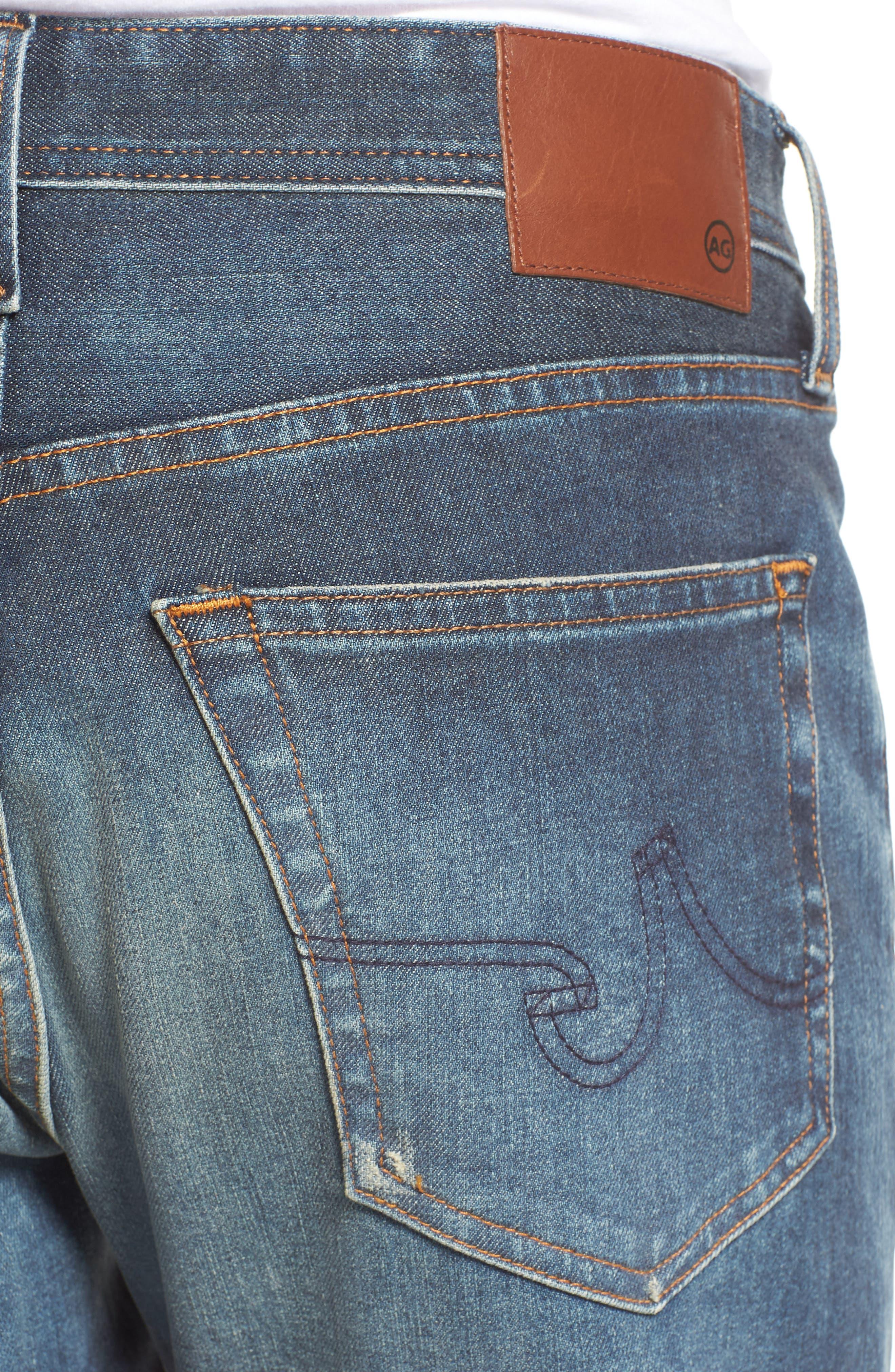 Alternate Image 4  - AG Everett Slim Straight Leg Jeans (12 Years River Veil)