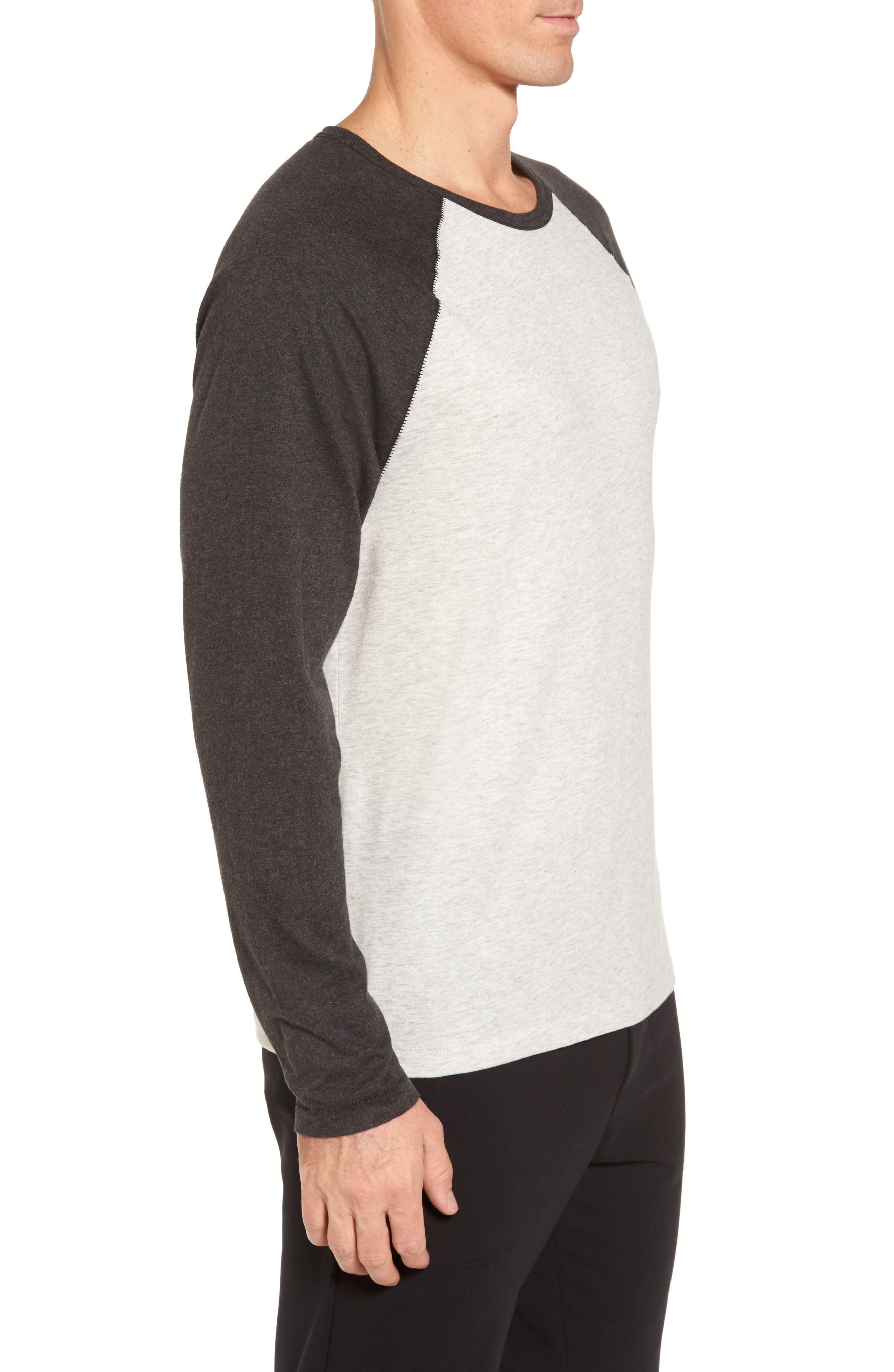 Stefan Raglan T-Shirt,                             Alternate thumbnail 4, color,                             Seal Heather/ Black Bear