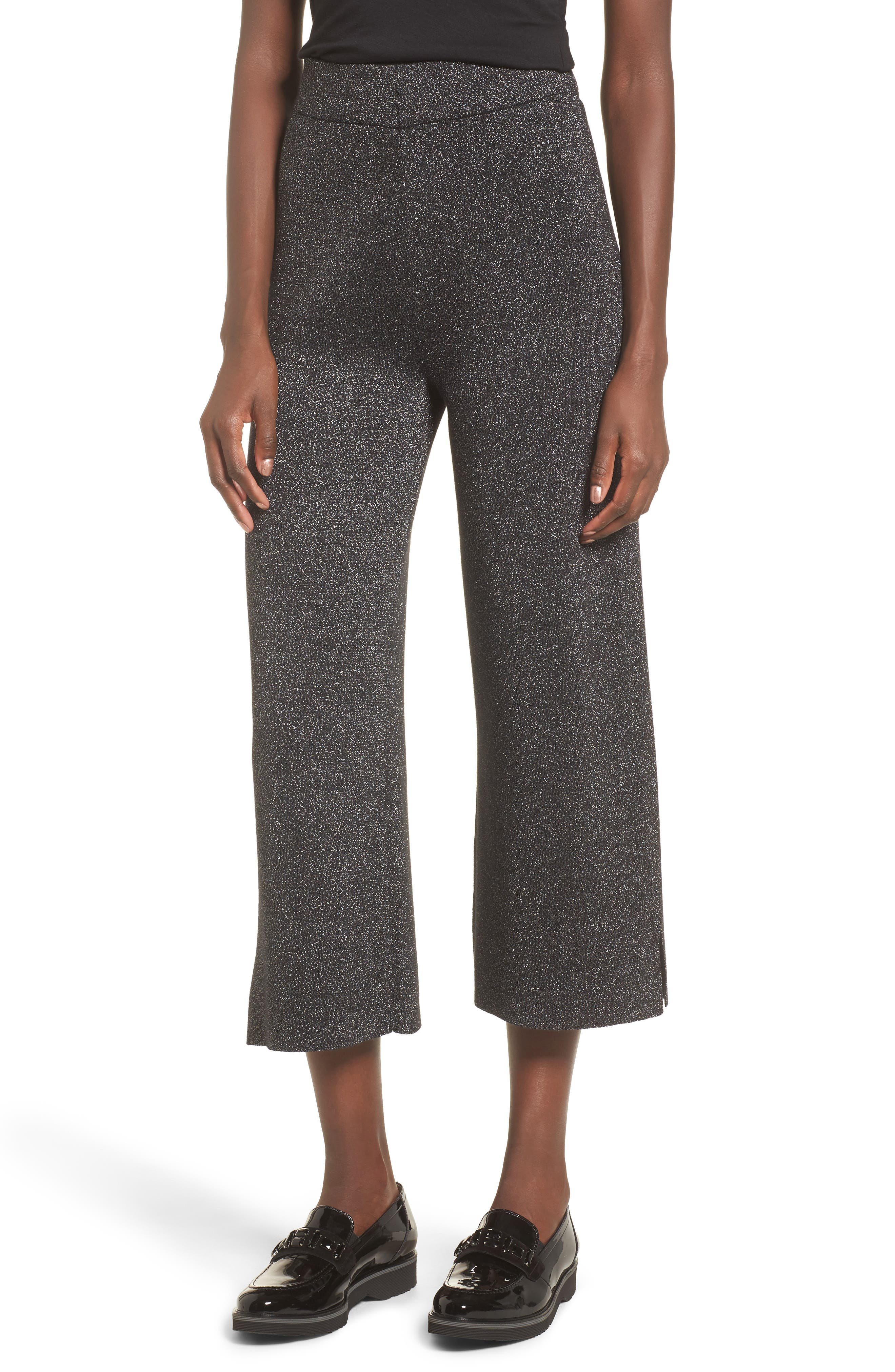 Alternate Image 1 Selected - Leith Metallic Crop Pants