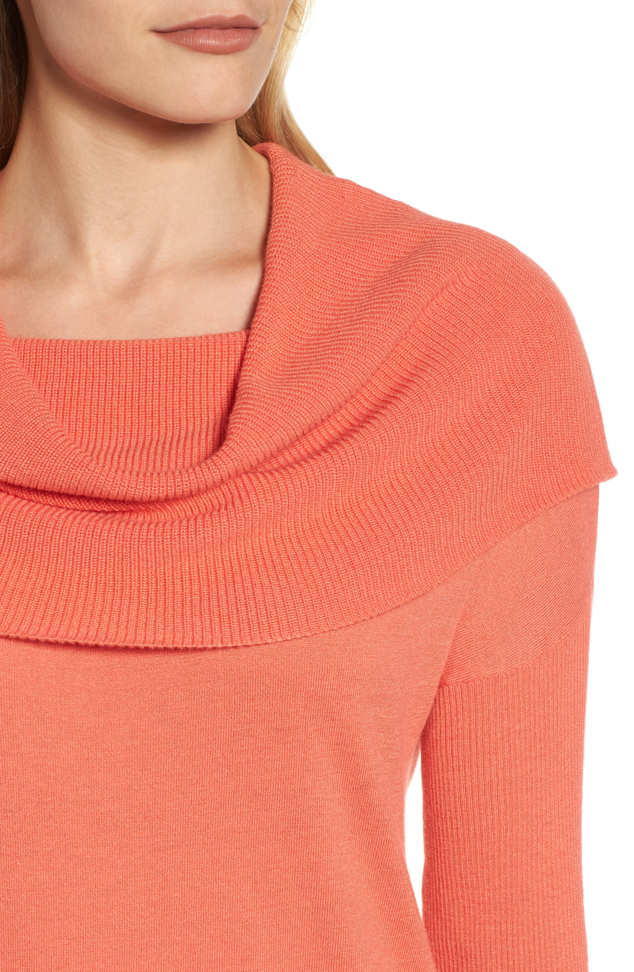 Alternate Image 4  - Caslon® Side Slit Cowl Neck Tunic (Regular & Petite)
