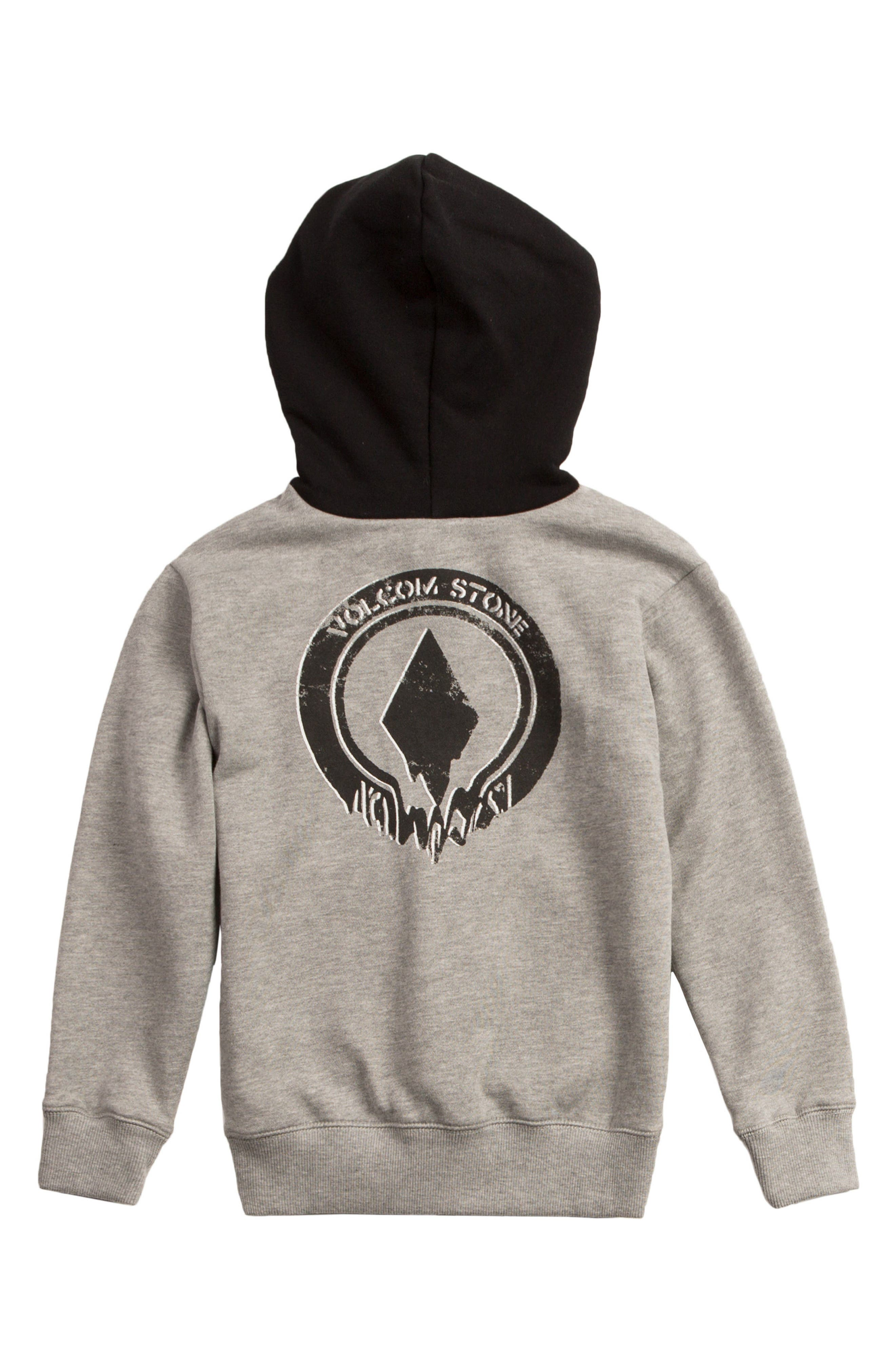 Supply Stone Graphic Pullover Hoodie,                             Alternate thumbnail 3, color,                             Grey