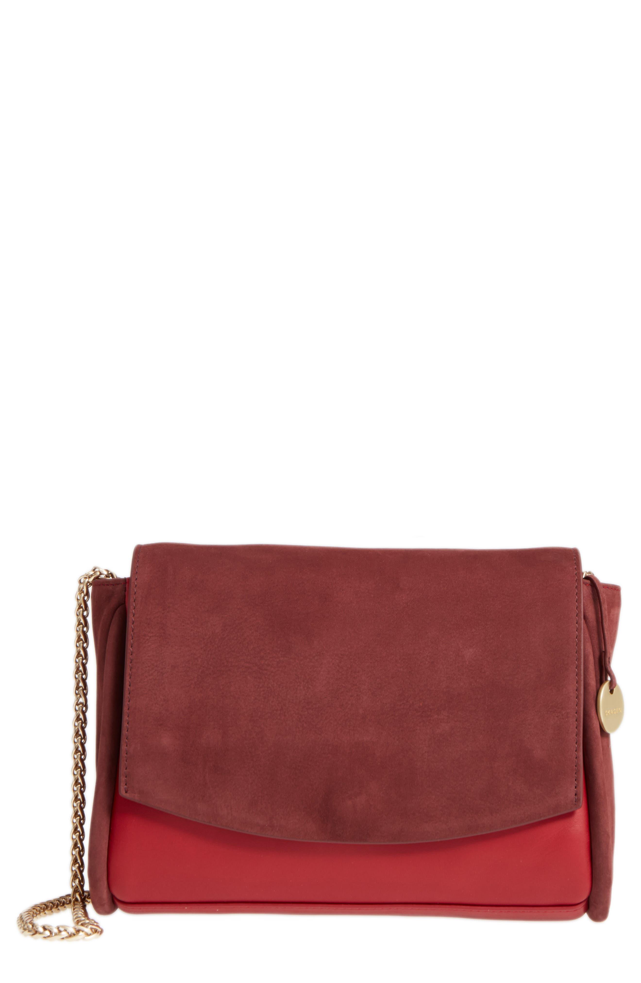 Alternate Image 1 Selected - Skagen Sylvi Leather Crossbody Bag