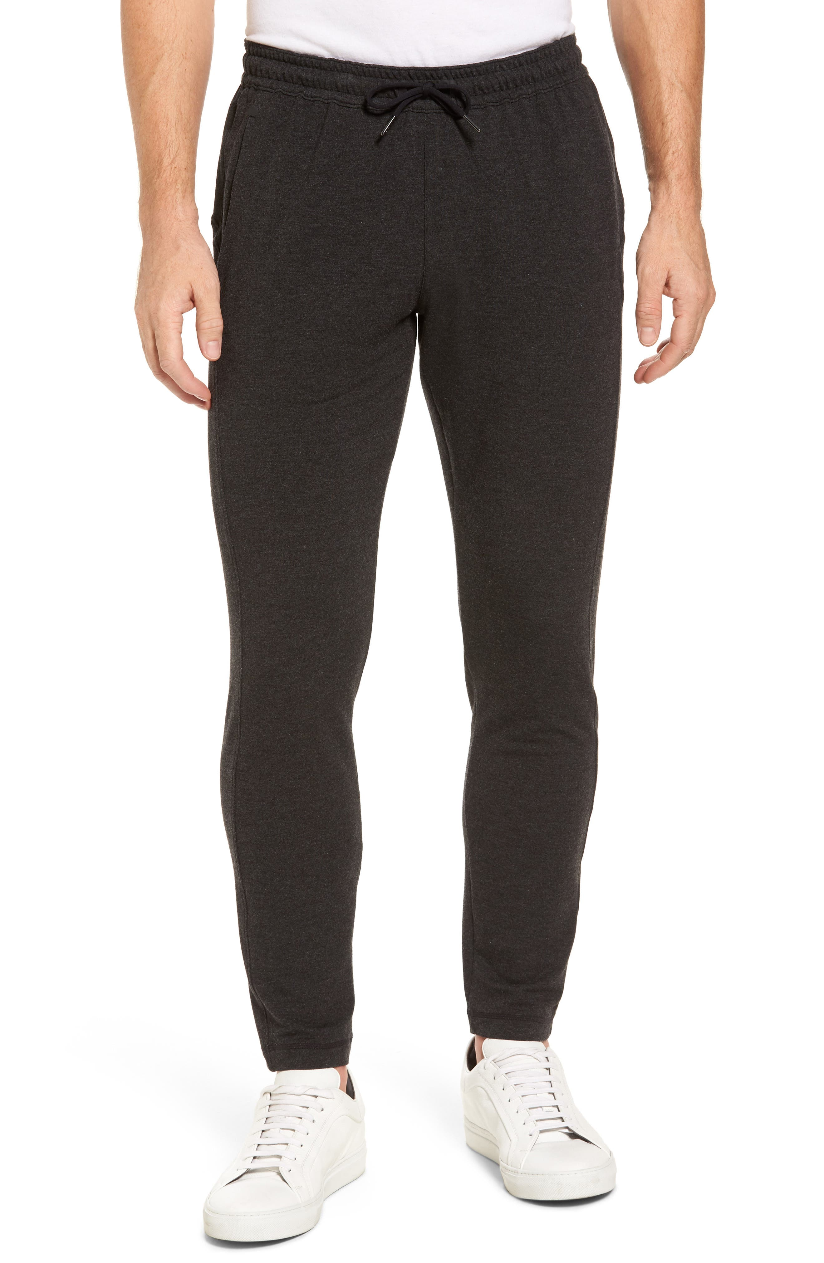 New Pyrite Tapered Fit Fleece Pants,                         Main,                         color, Black Oxide Heather