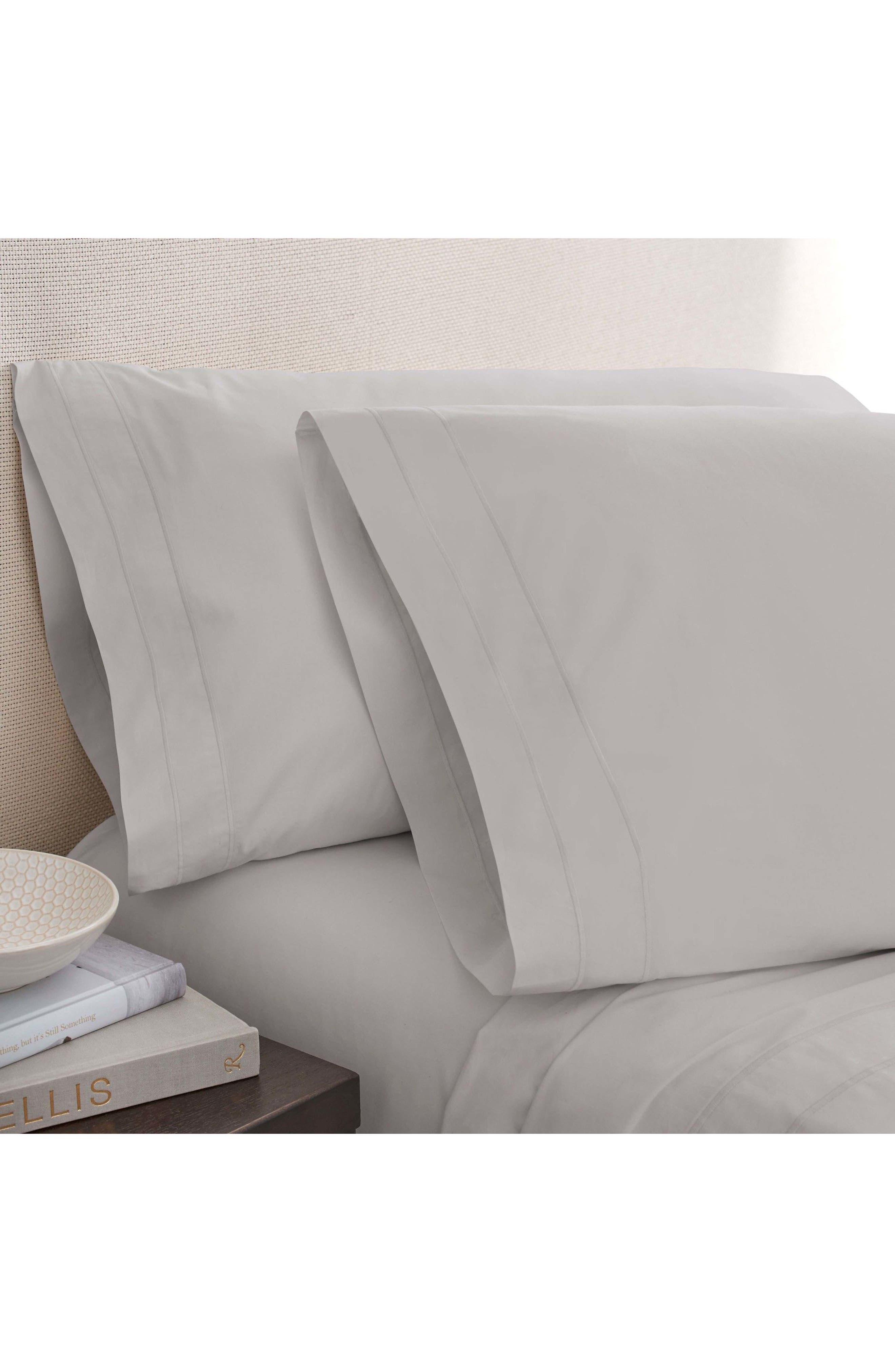 The Denizen Organic Cotton Pillowcases,                             Main thumbnail 1, color,                             Smoke
