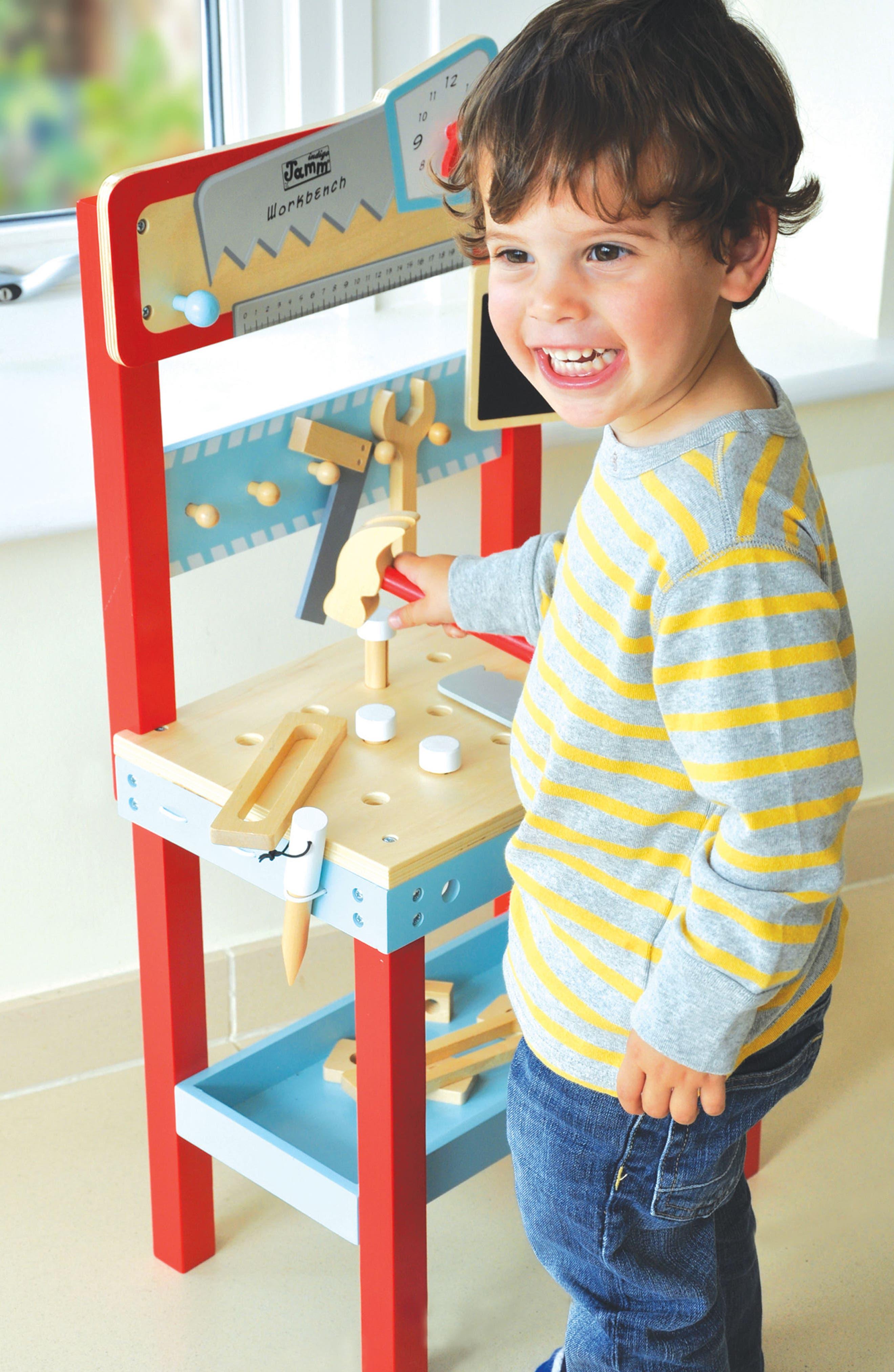 Little Carpenters Workbench,                             Alternate thumbnail 2, color,                             Blue