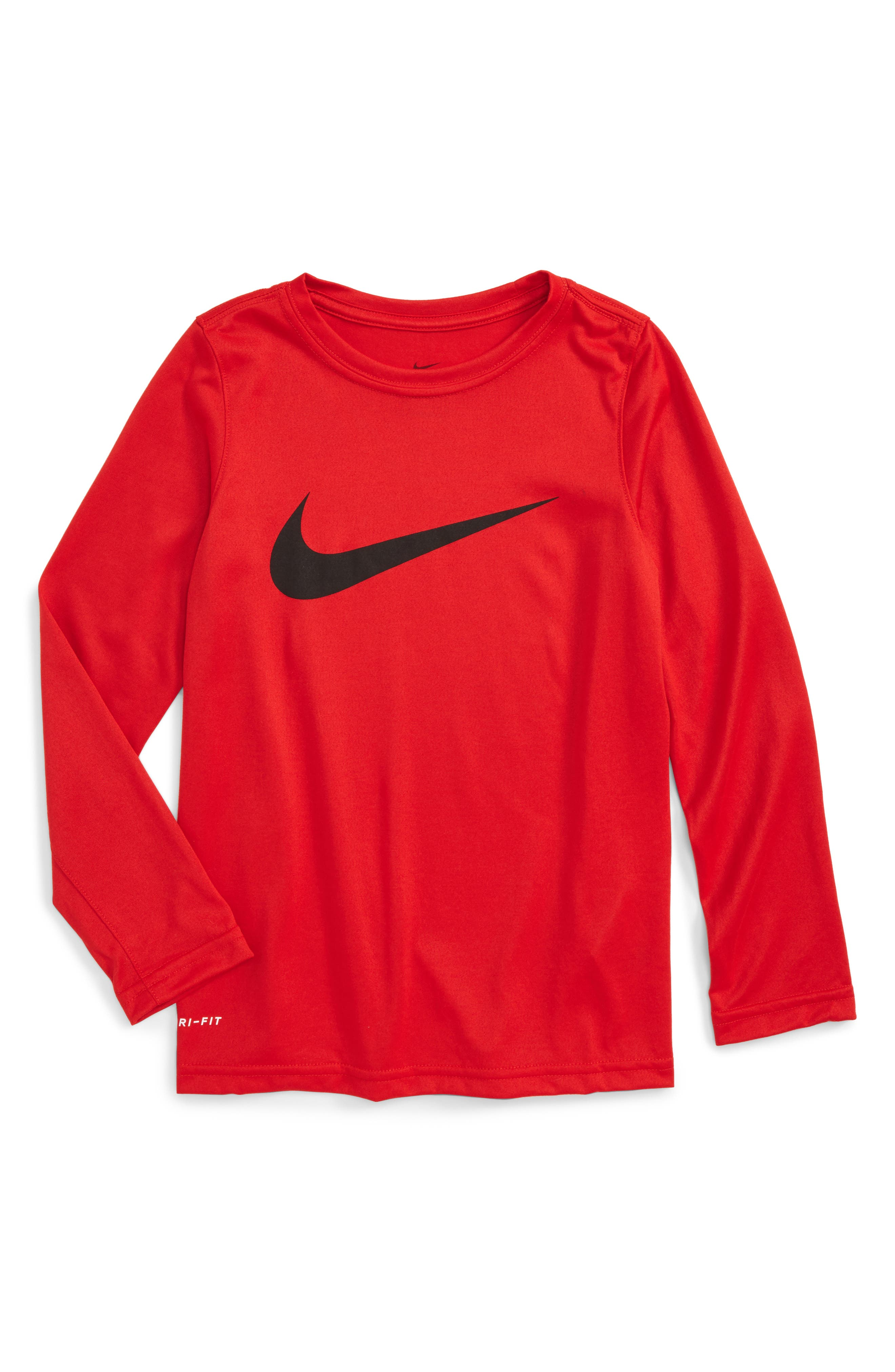 Nike Dry Long Sleeve Swoosh Logo T-Shirt (Little Boys & Big Boys)